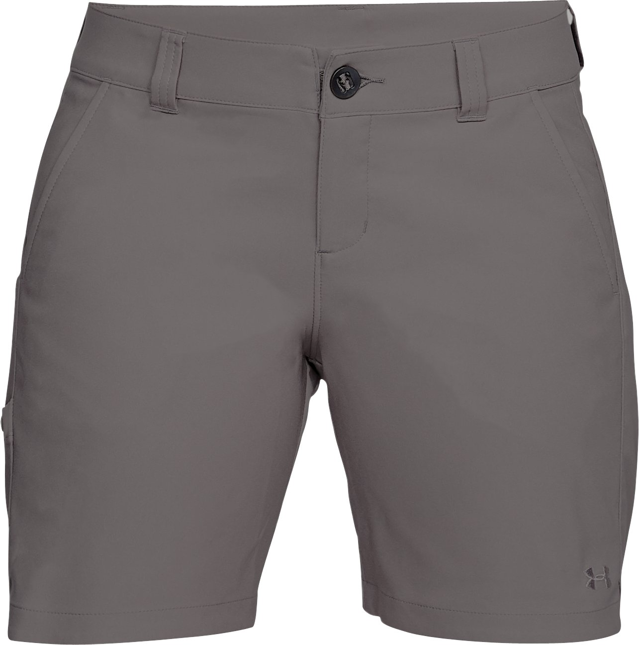 "Women's UA Fish Hunter Shorts - 7"", MINK GRAY,"