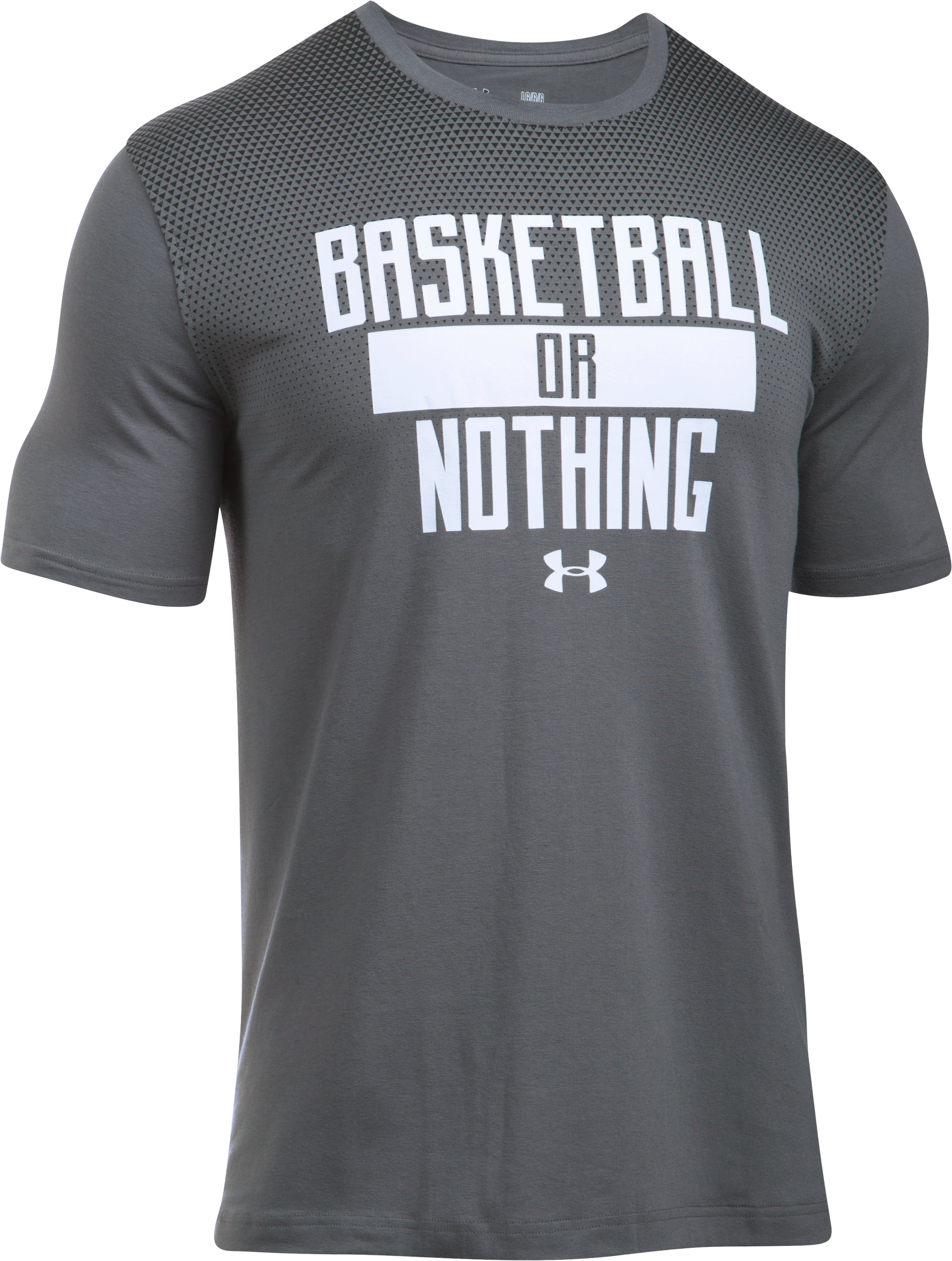 Men's UA Basketball or Nothing T-Shirt, Graphite