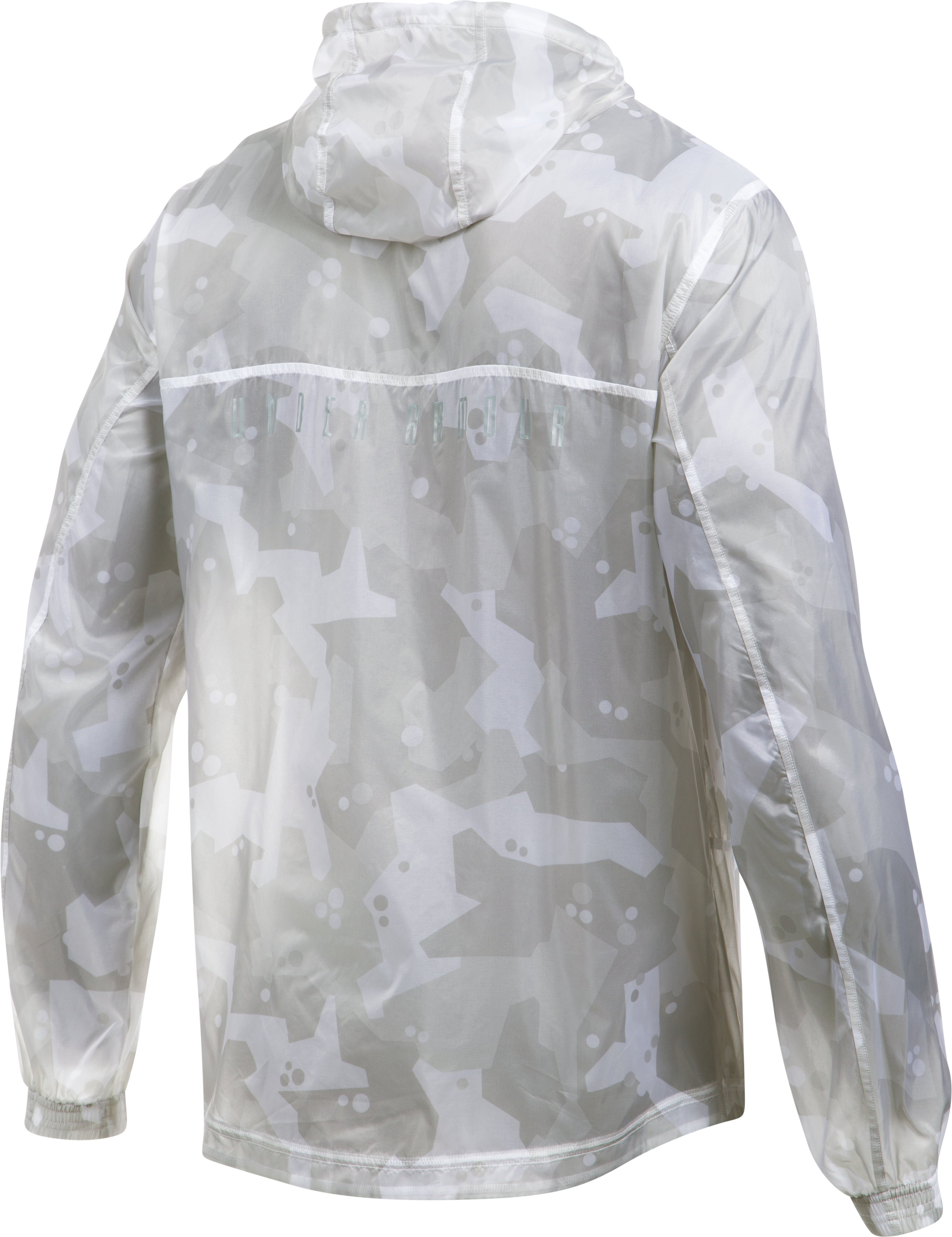 Men's UA Pursuit Windbreaker, White, undefined