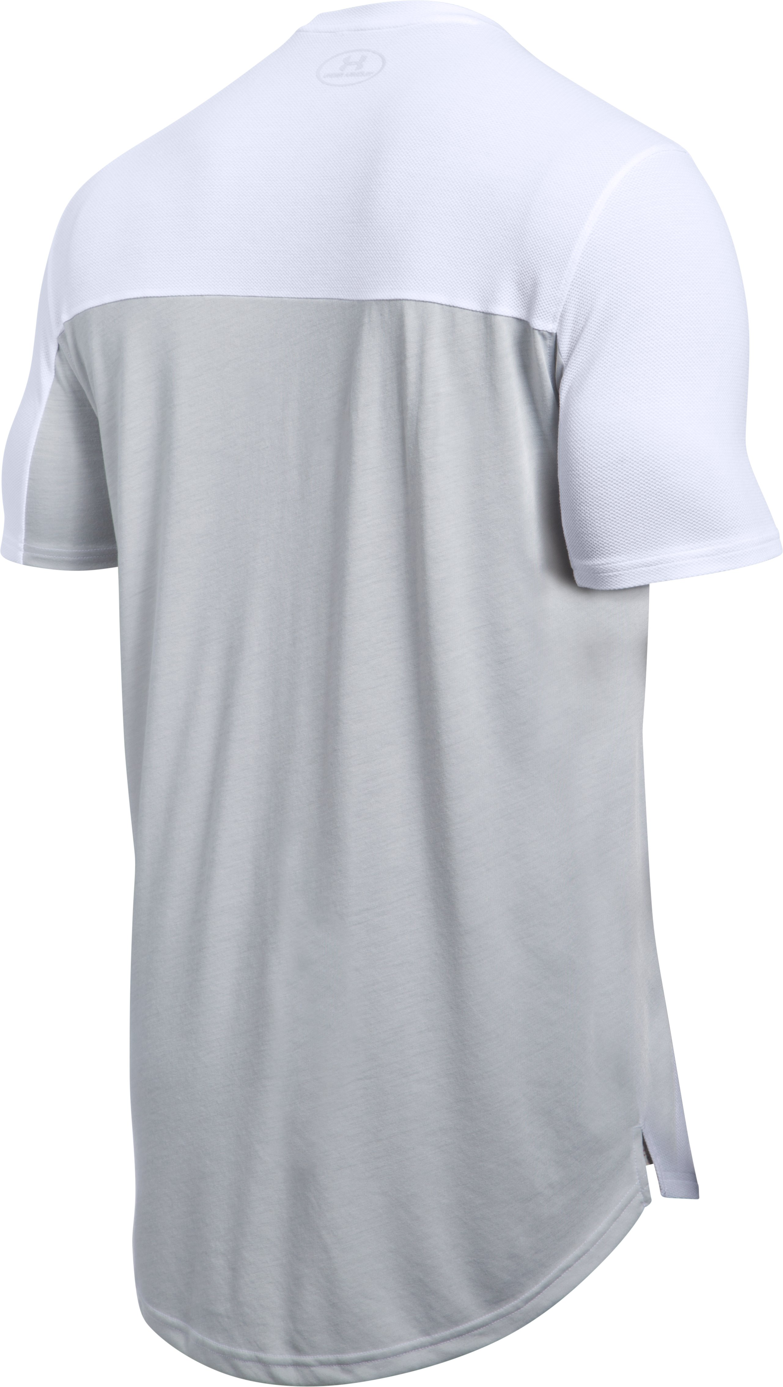 Men's UA Pursuit Cut & Sew T-Shirt, White, undefined