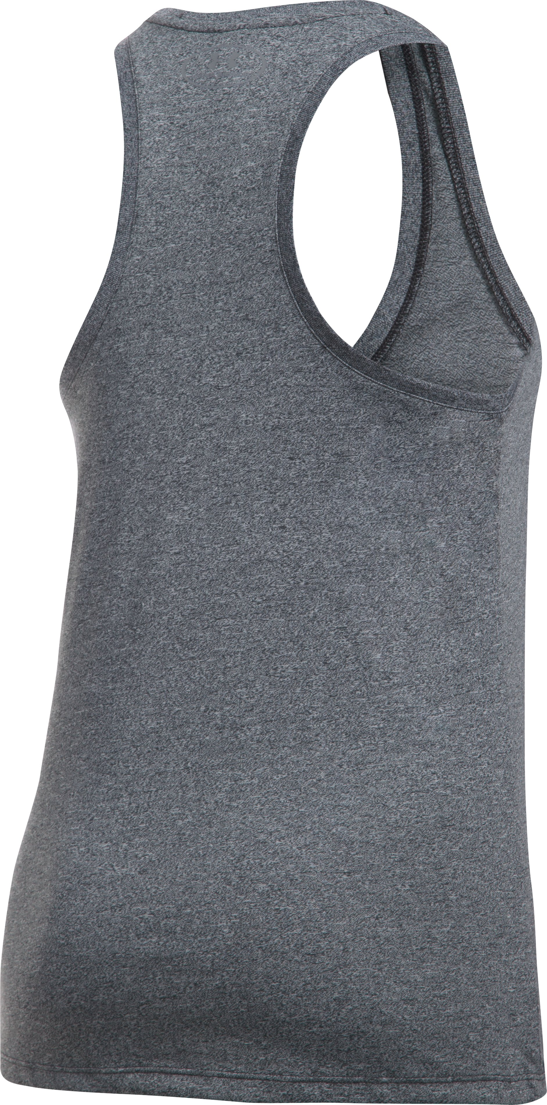 Women's UA Threadborne Train Wordmark Tank -Twist, Black ,