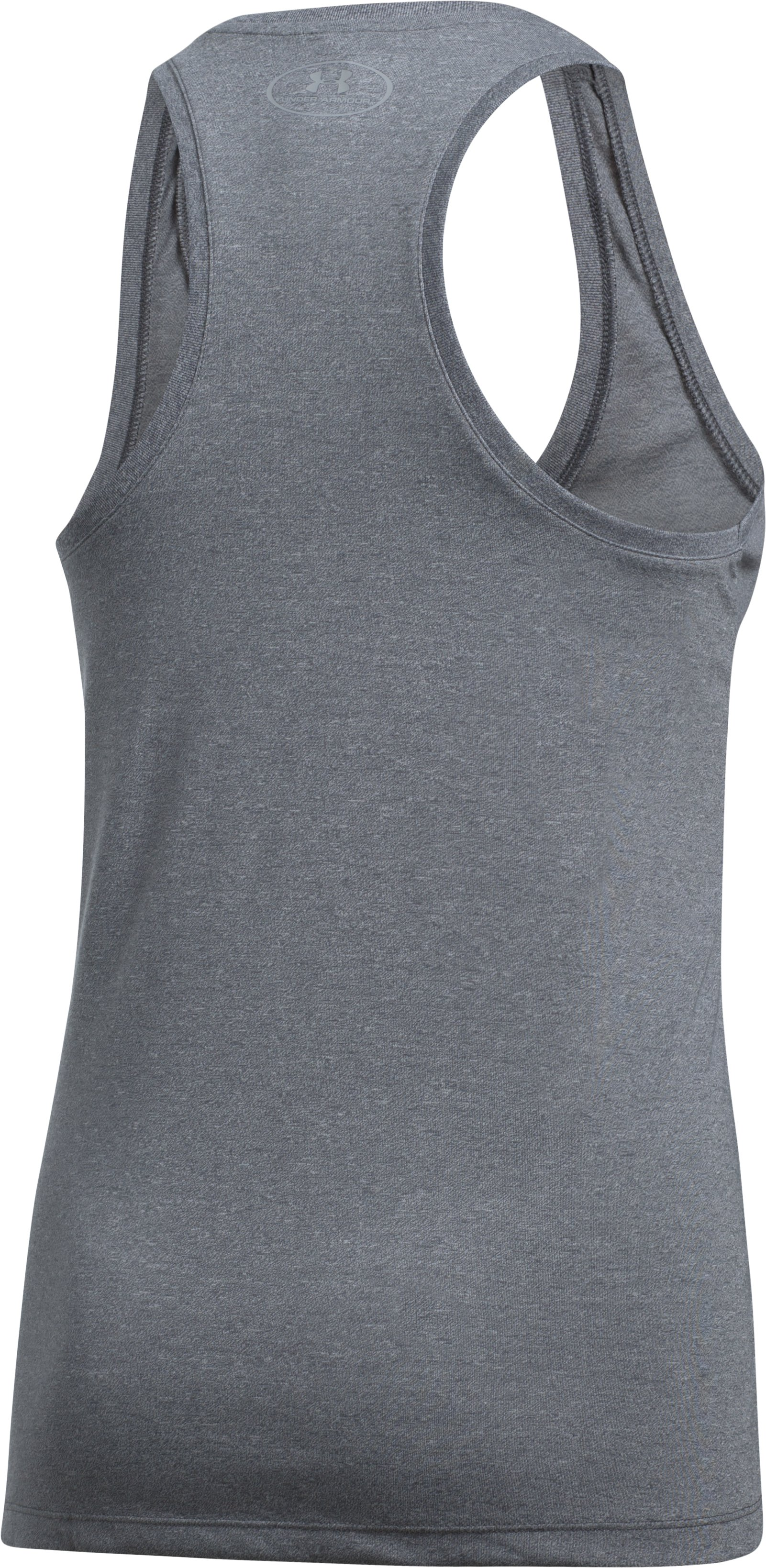 Women's UA Threadborne Train Wordmark Tank -Twist, RHINO GRAY