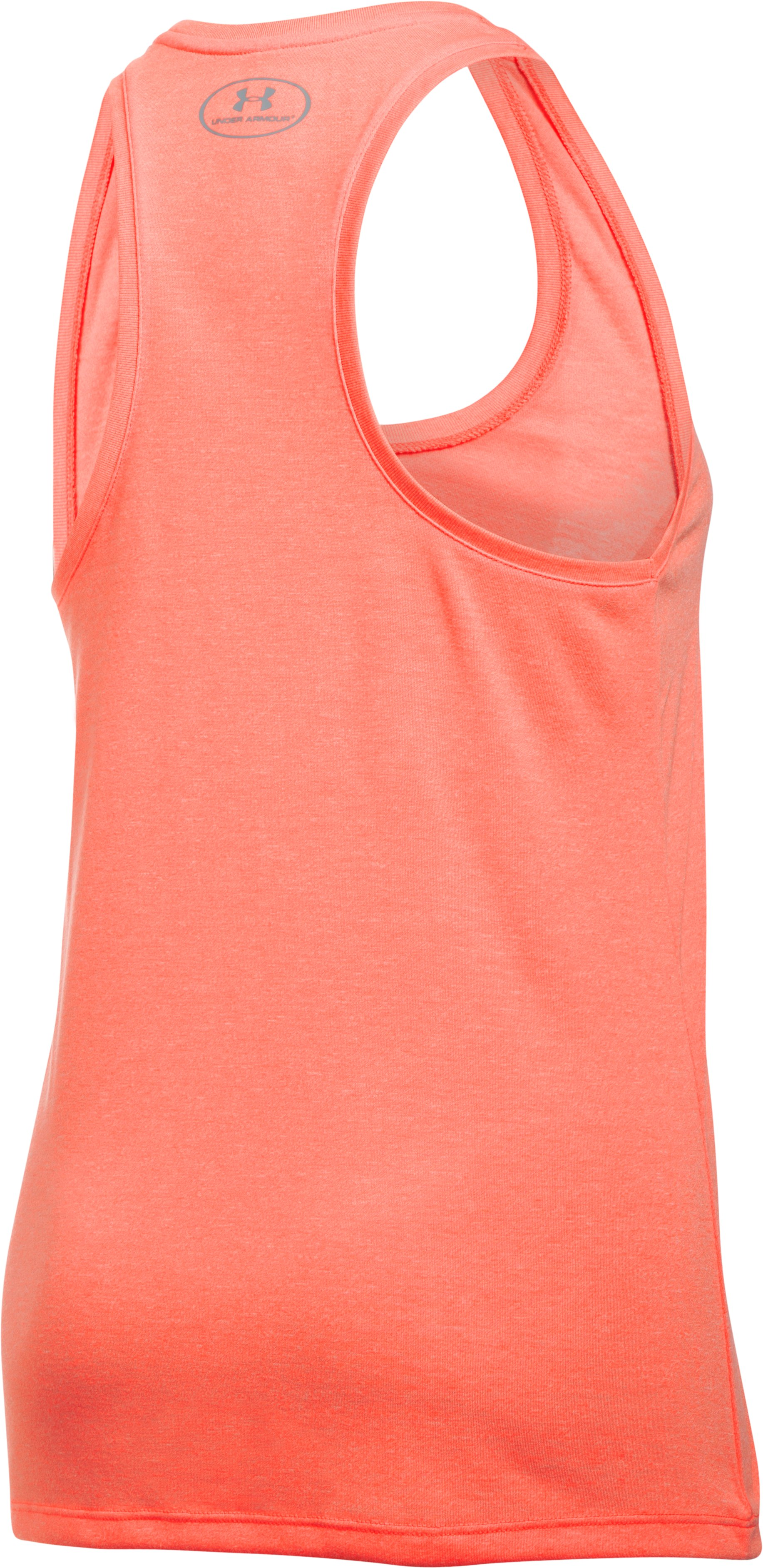 Women's UA Threadborne Train Wordmark Tank -Twist, LONDON ORANGE, undefined