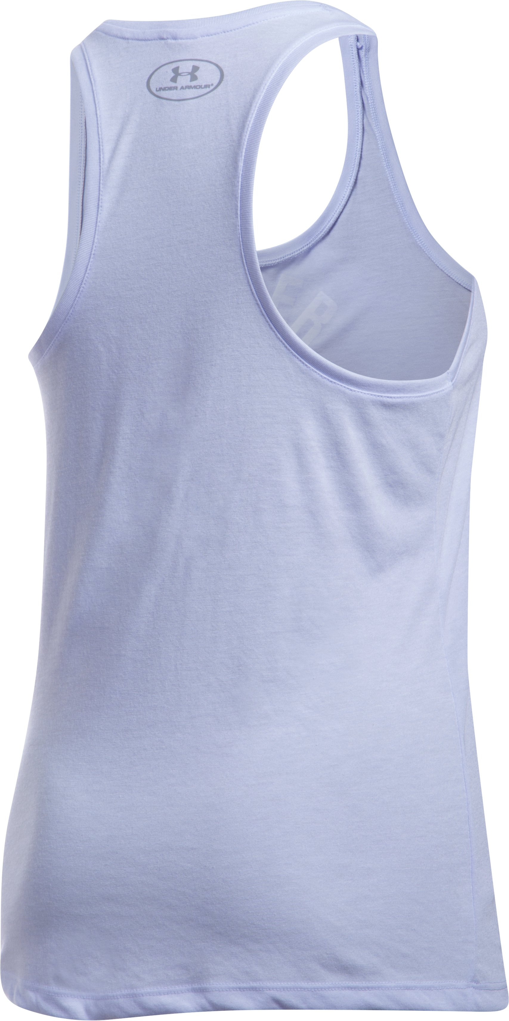Women's UA Threadborne Train Wordmark Tank -Twist, LAVENDER ICE