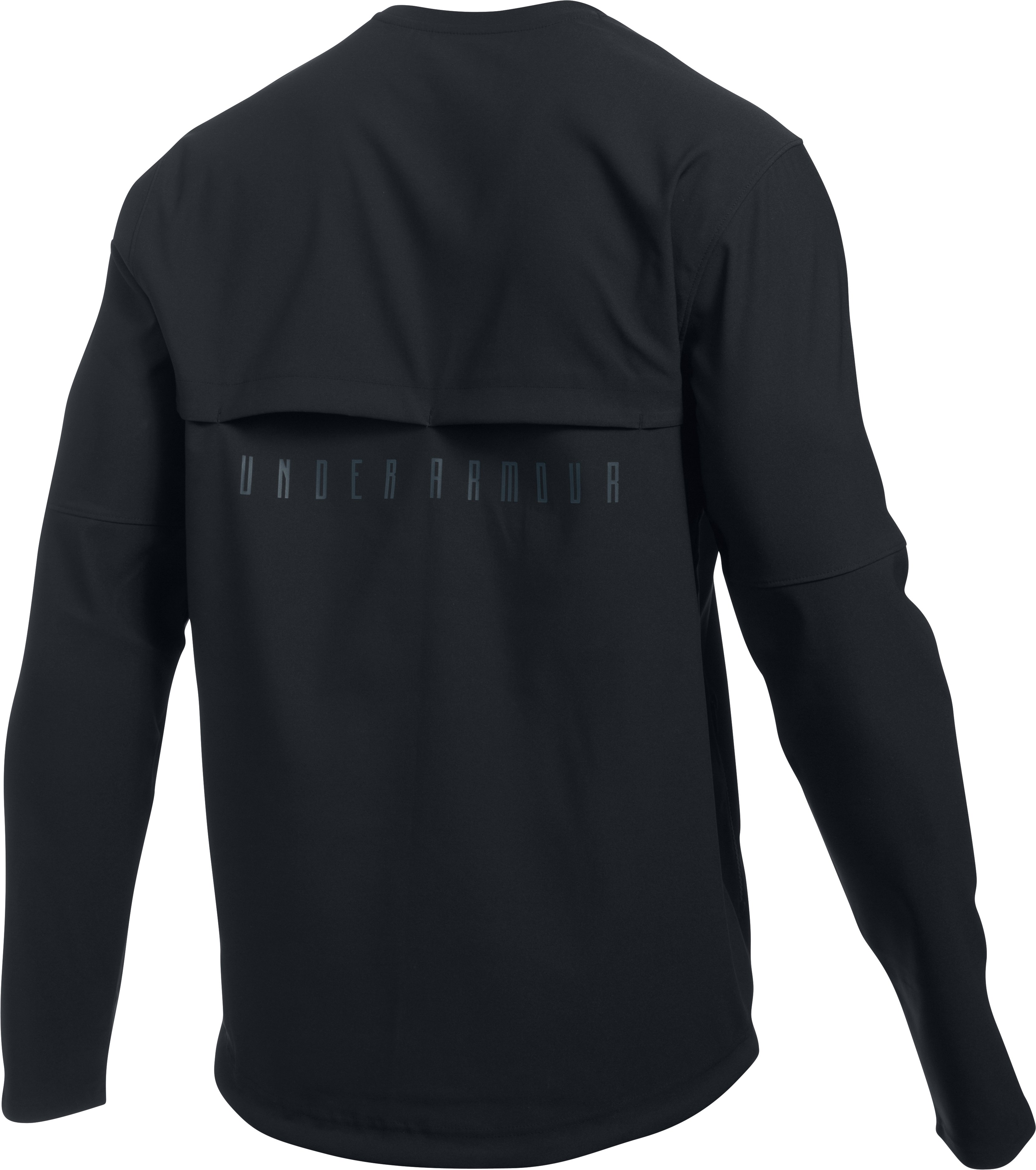 Men's UA Pursuit Wind Shirt, Black , undefined