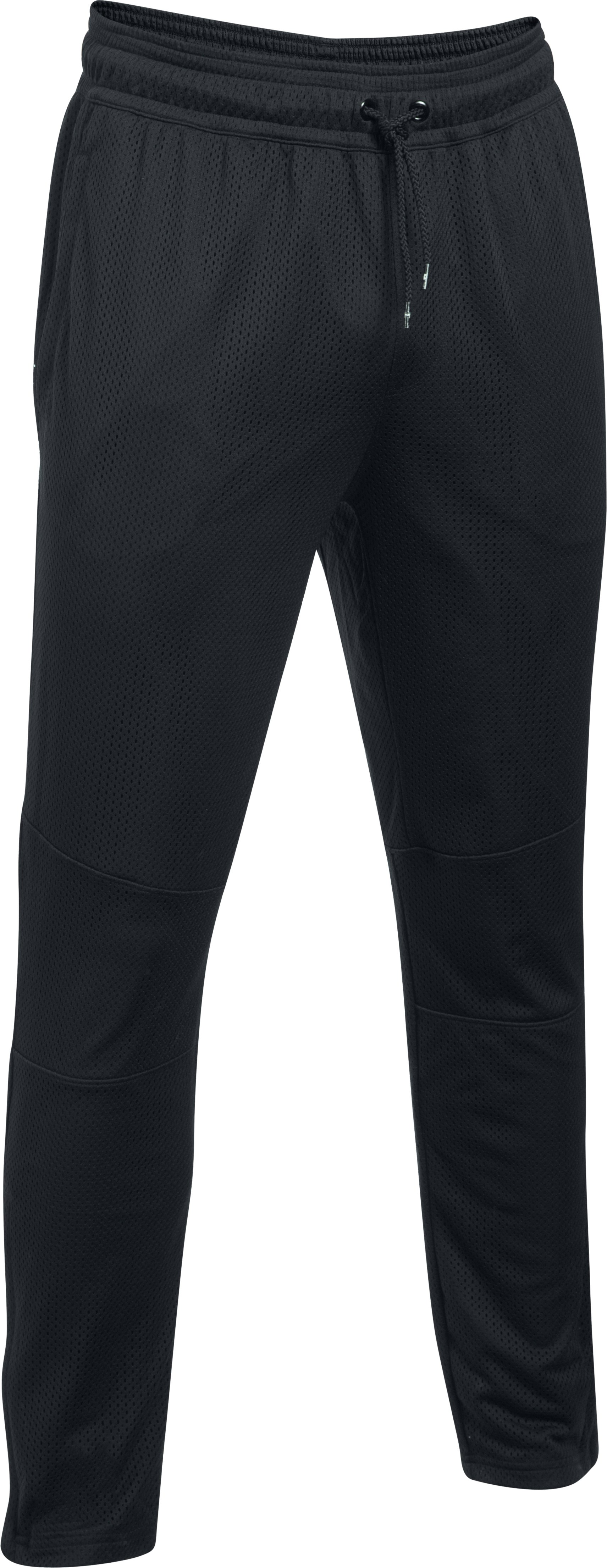 Men's UA Pursuit Mesh Tapered Pants, Black , undefined