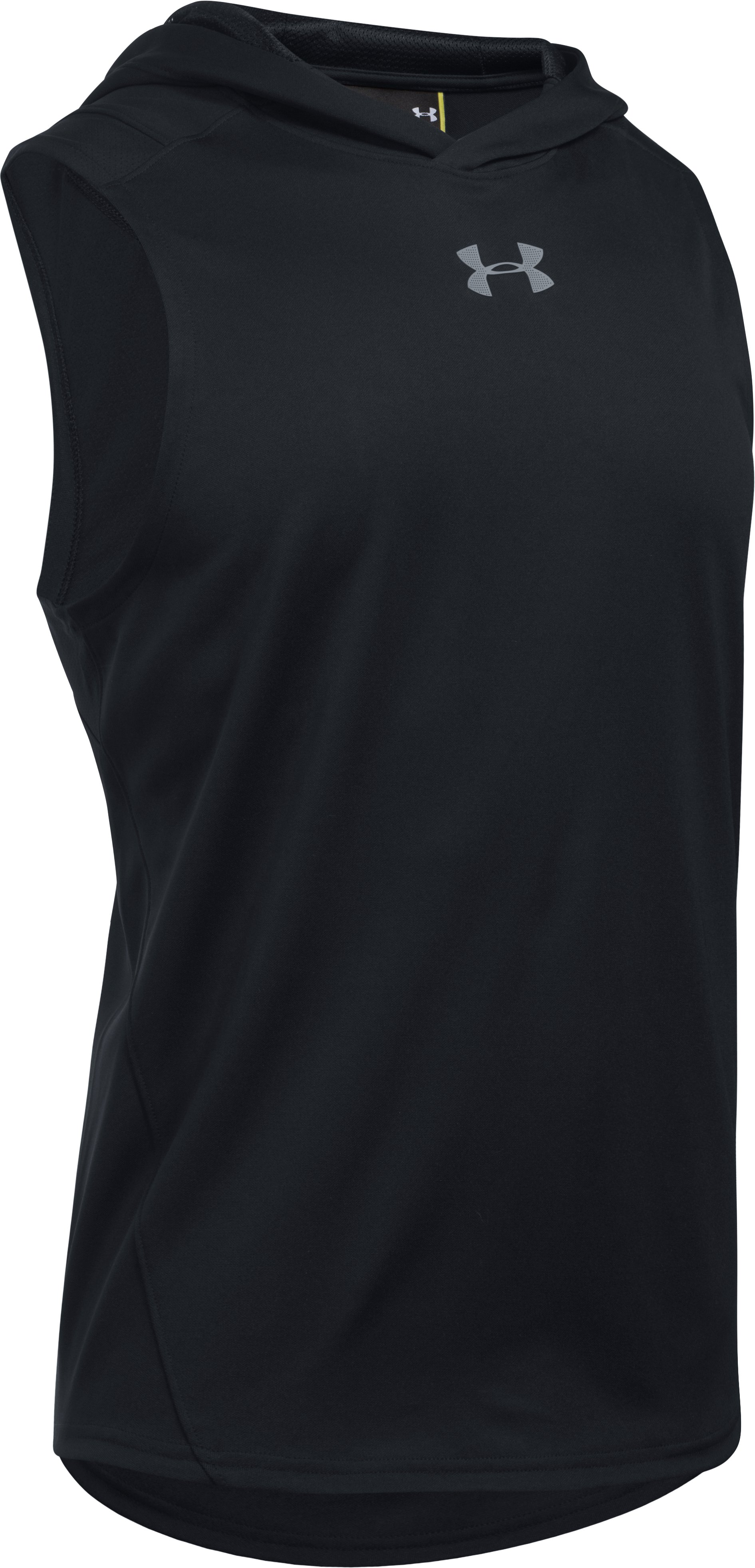 Men's UA Select Sleeveless Hoodie, Black , undefined