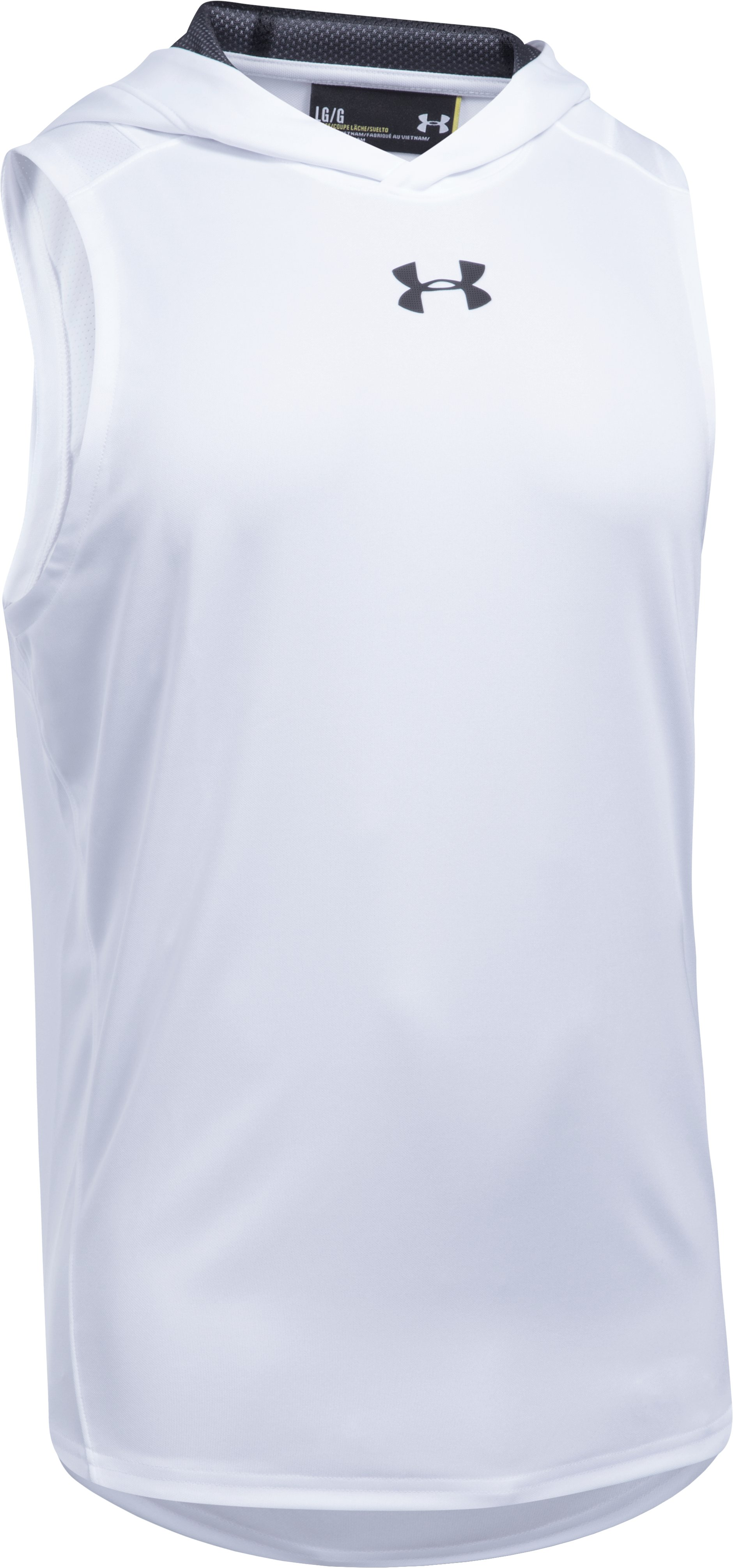 Men's UA Select Sleeveless Hoodie, White,