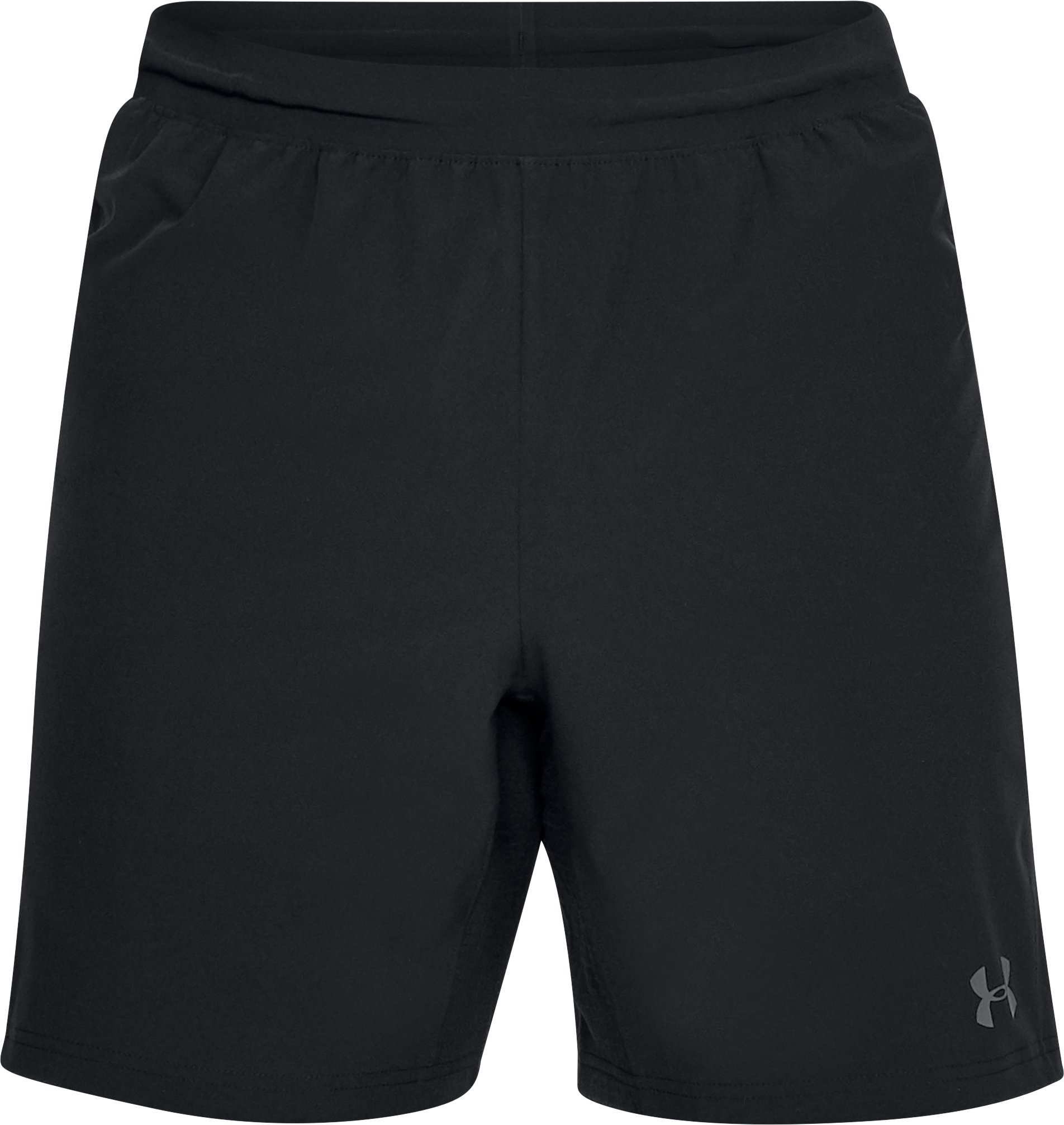 Men's UA Pitch Stretch-Woven Shorts, Black , undefined
