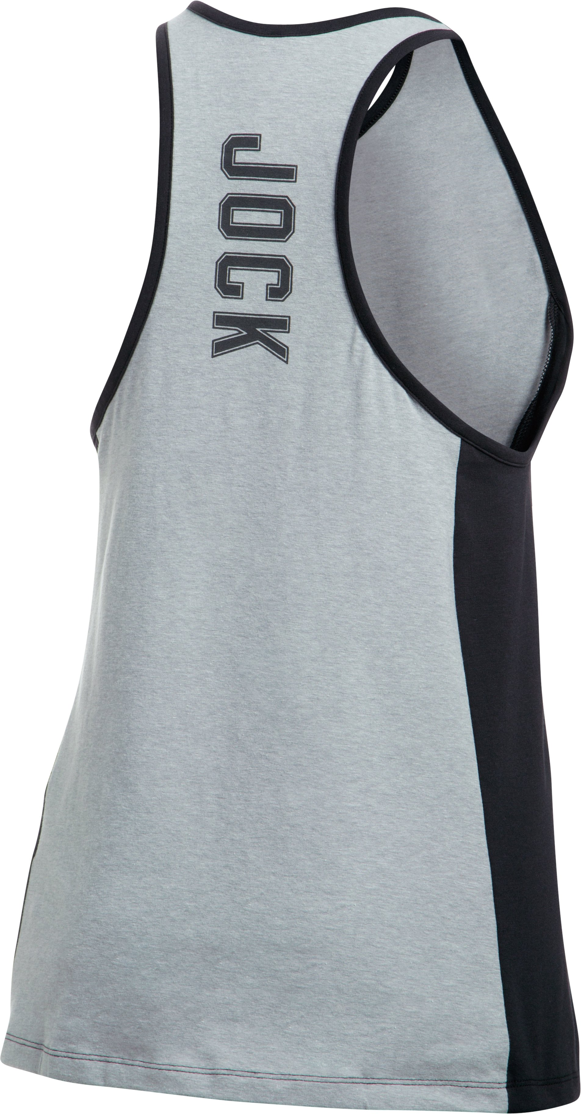 Women's UA Rest Day Jock Tank, True Gray Heather,