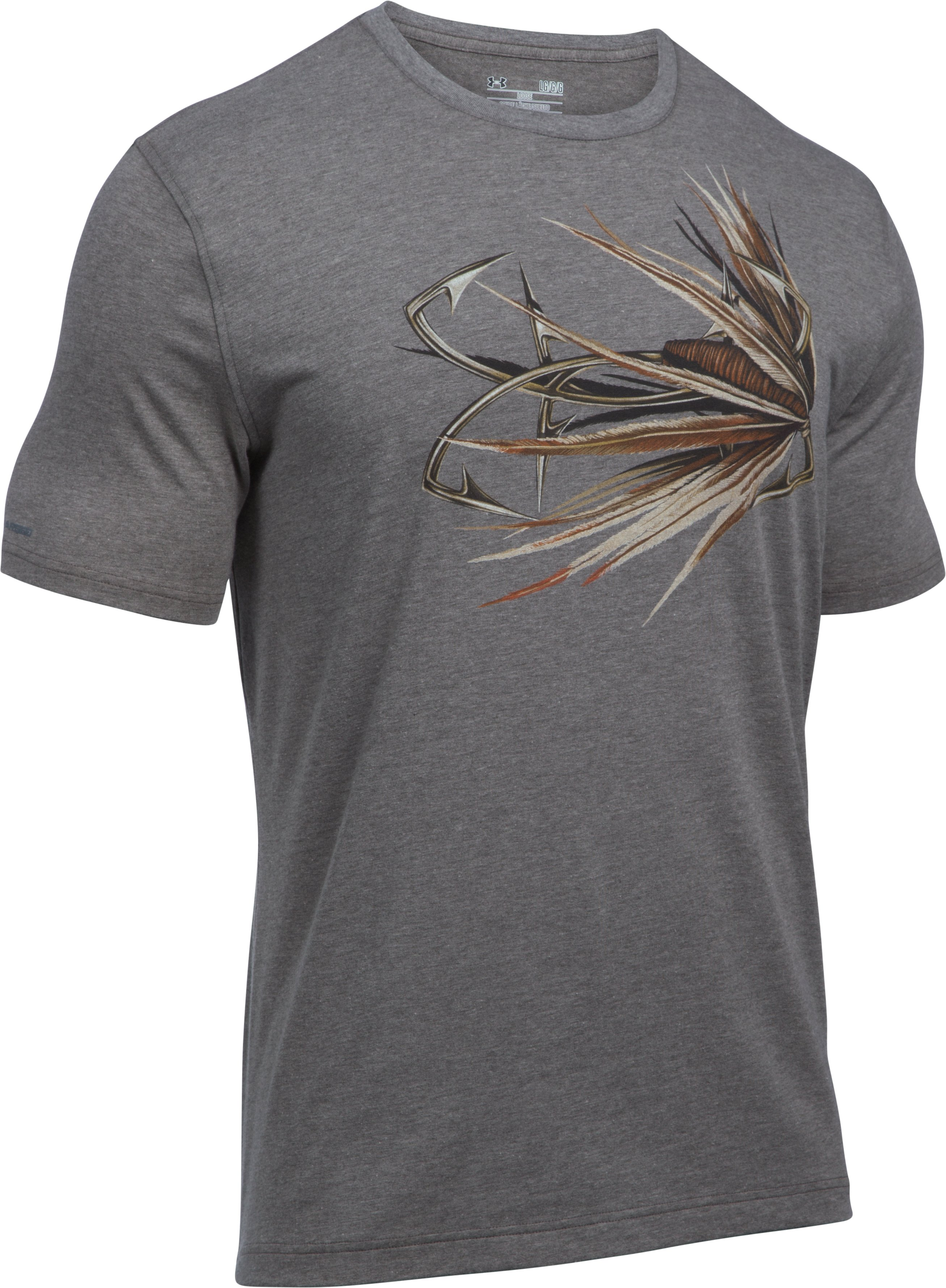 Men's UA Fly Logo T-Shirt, Carbon Heather, undefined