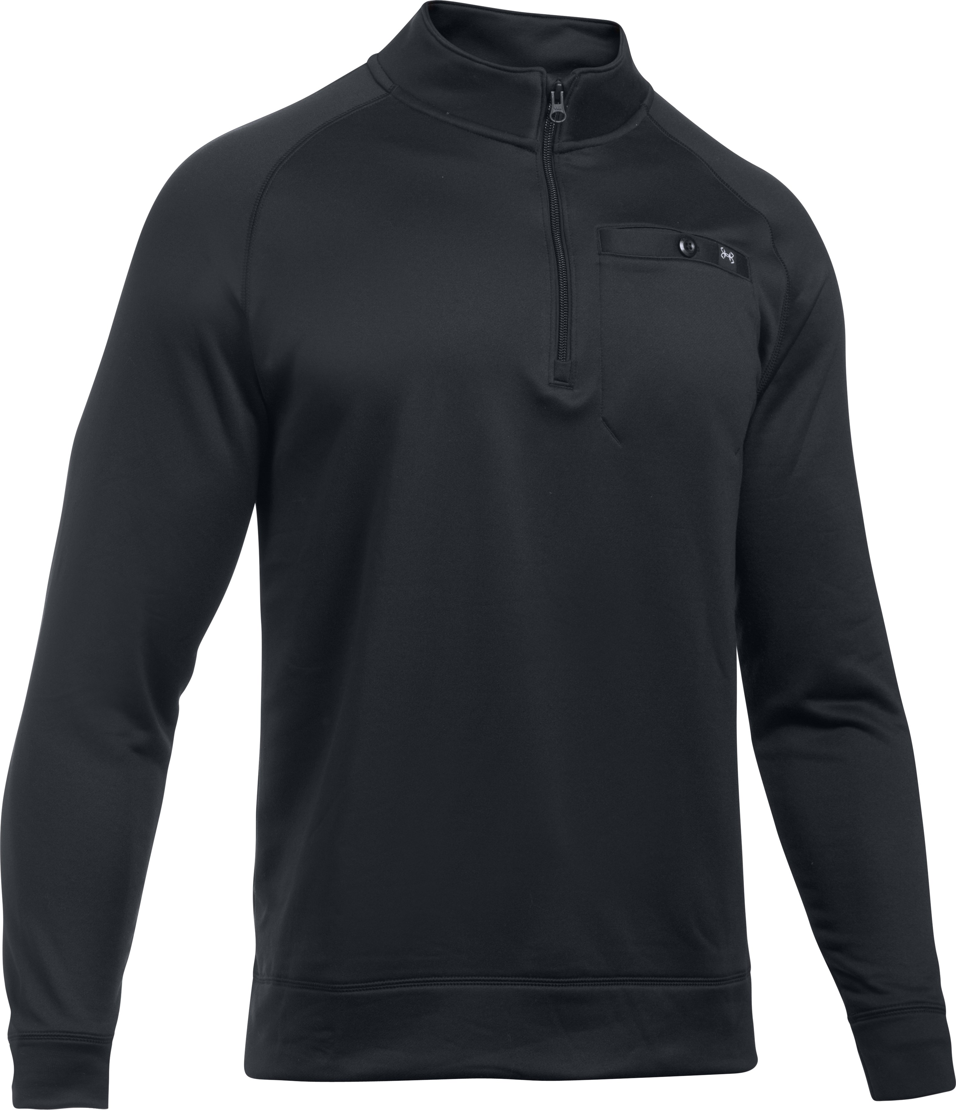 Men's UA Shoreline ¼ Zip, Black , undefined