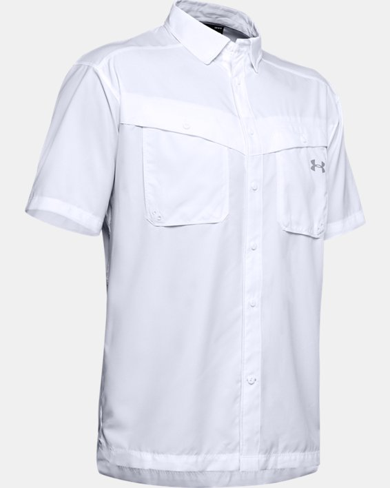 Men's UA Tide Chaser Short Sleeve, White, pdpMainDesktop image number 5