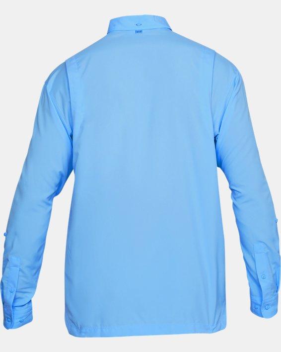 Men's UA Tide Chaser Long Sleeve, Blue, pdpMainDesktop image number 4