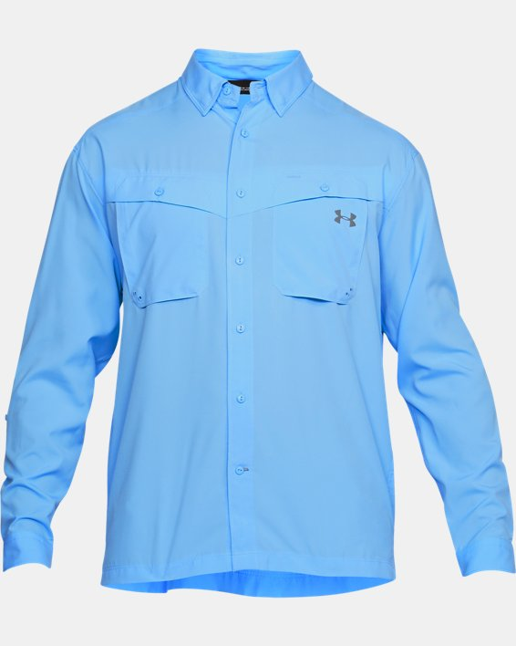 Men's UA Tide Chaser Long Sleeve, Blue, pdpMainDesktop image number 3