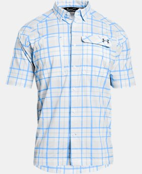 Men's UA Fish Hunter Plaid Short Sleeve  1  Color Available $74.99