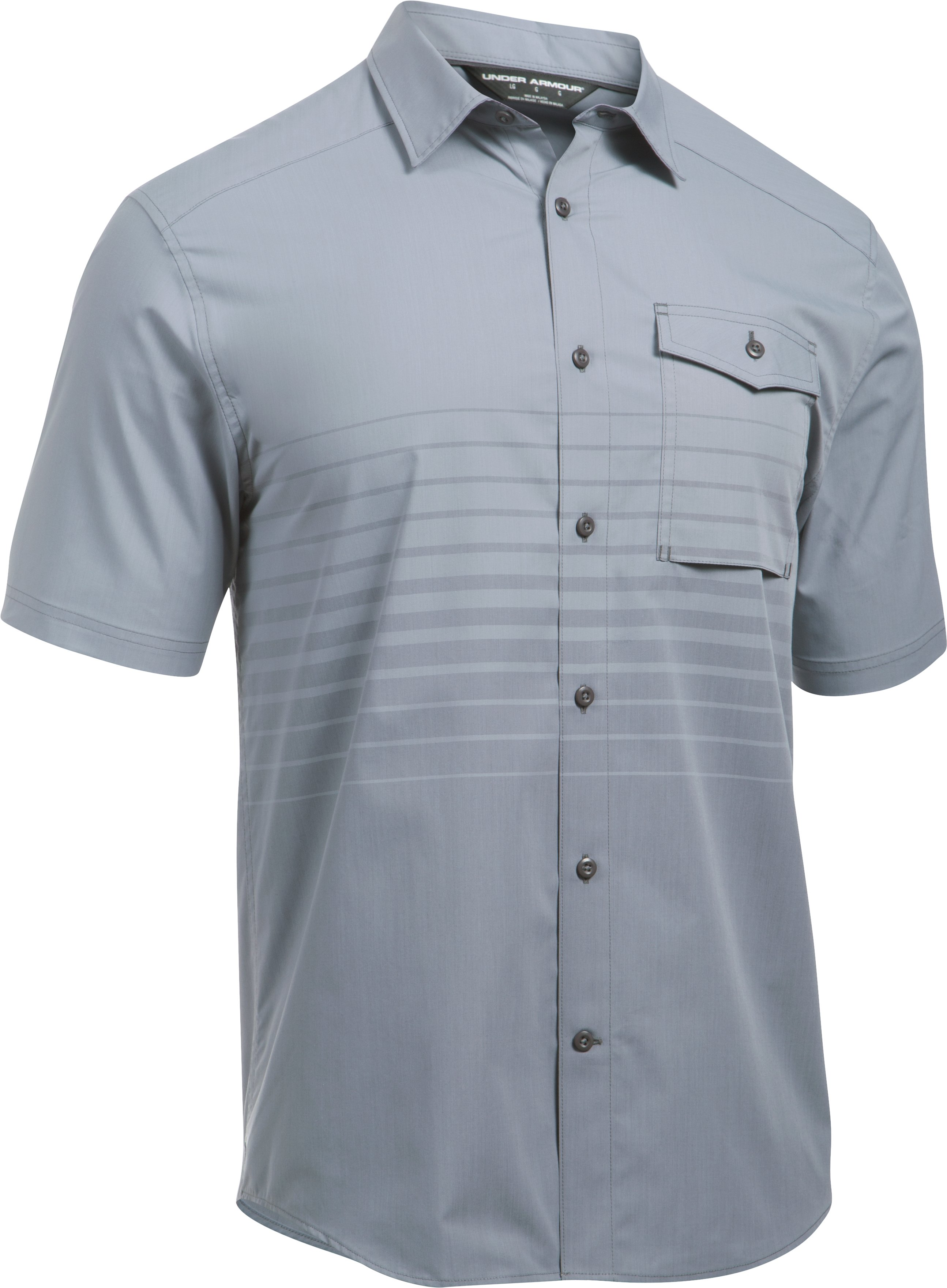 Men's UA Backwater Short Sleeve, Steel