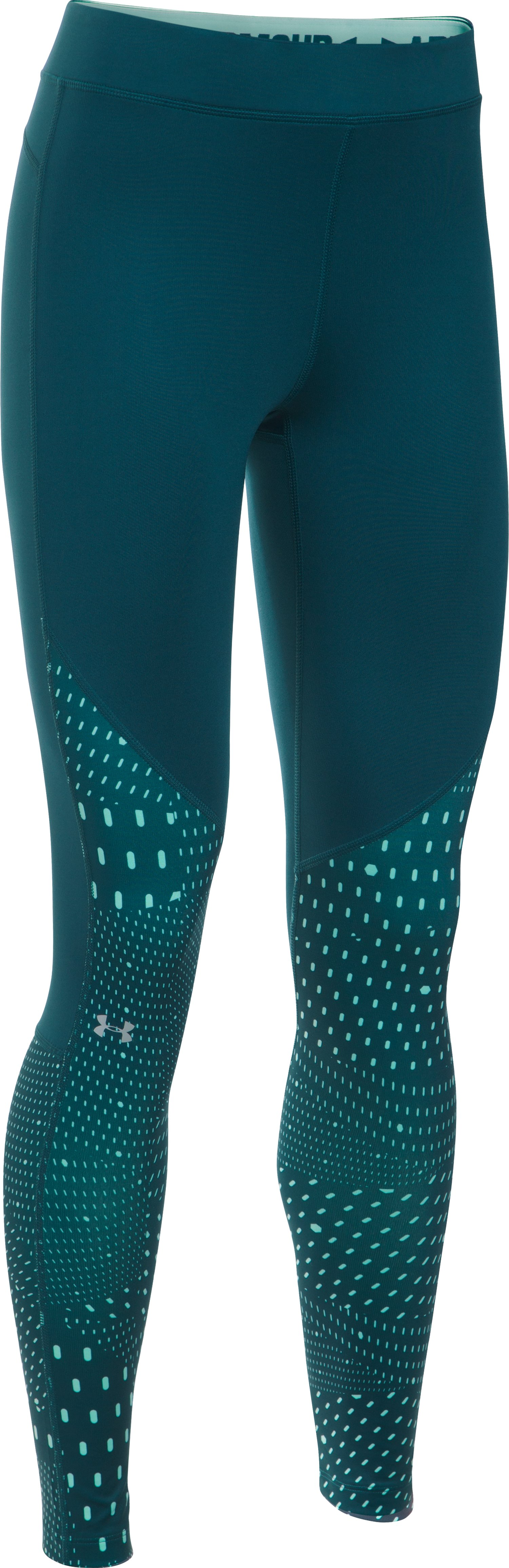 Women's UA ColdGear® Armour Graphic Leggings, CRYSTAL