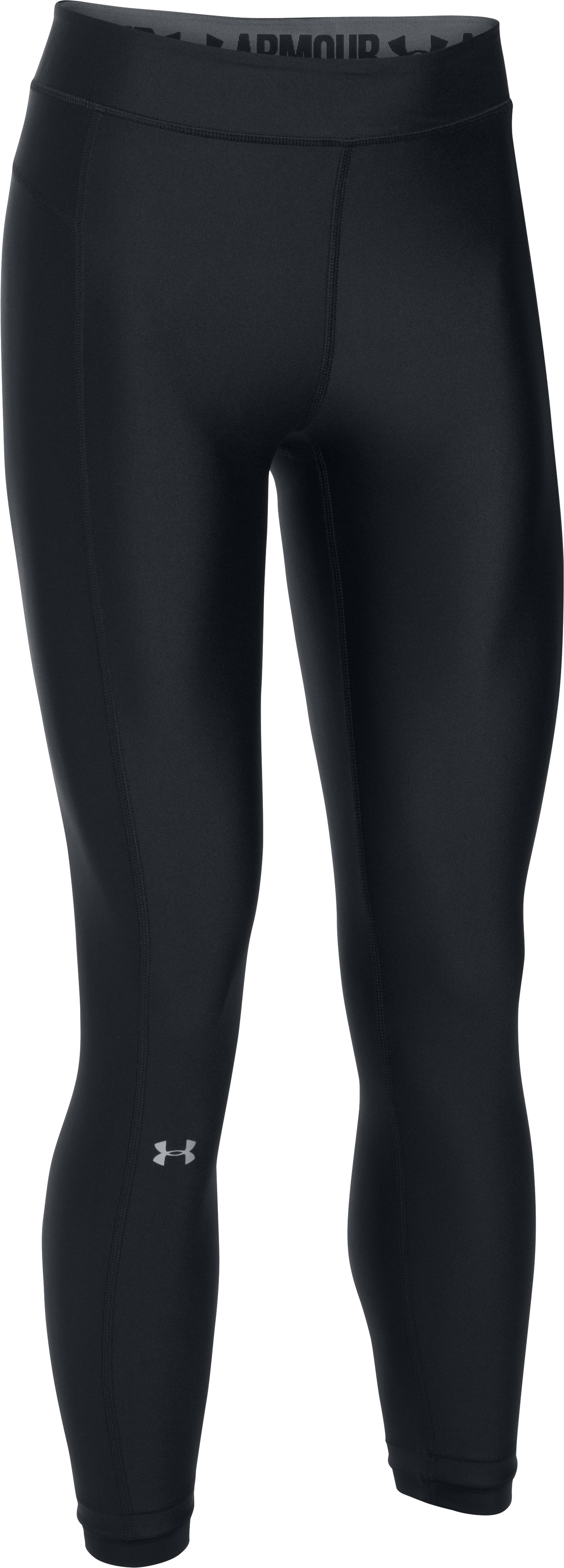 Women's UA HeatGear® Armour Ankle Crop, Black ,