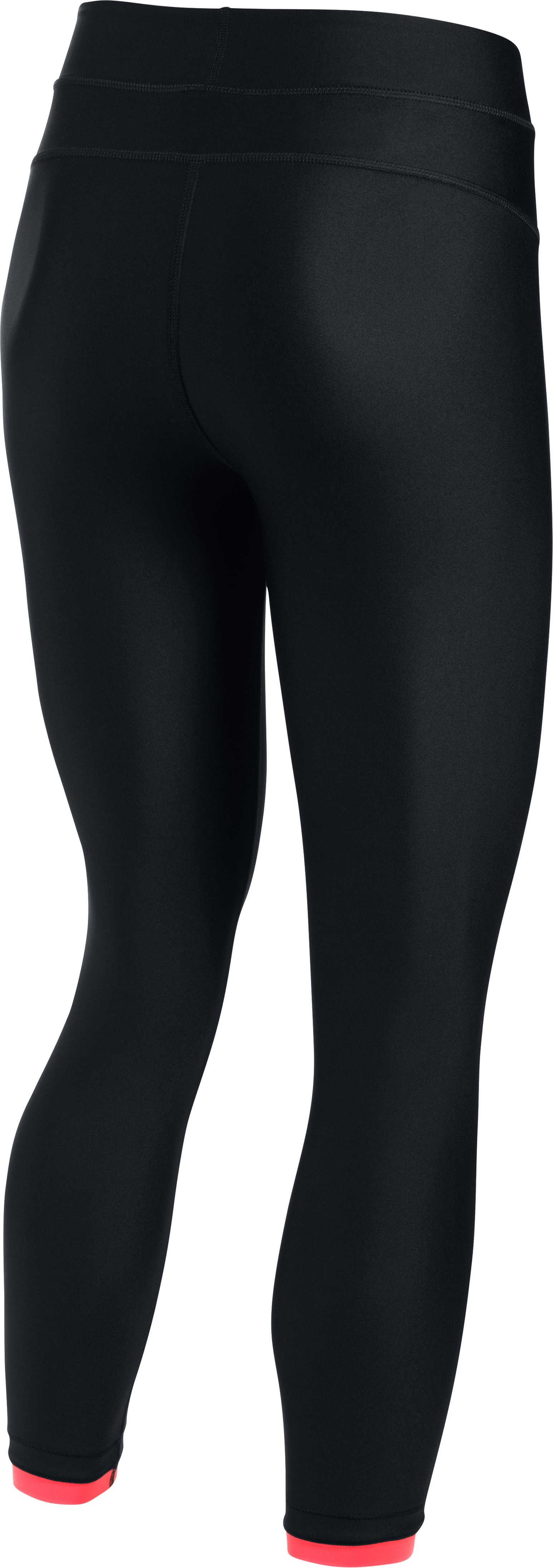 Women's UA HeatGear® Armour Ankle Crop, Black , undefined