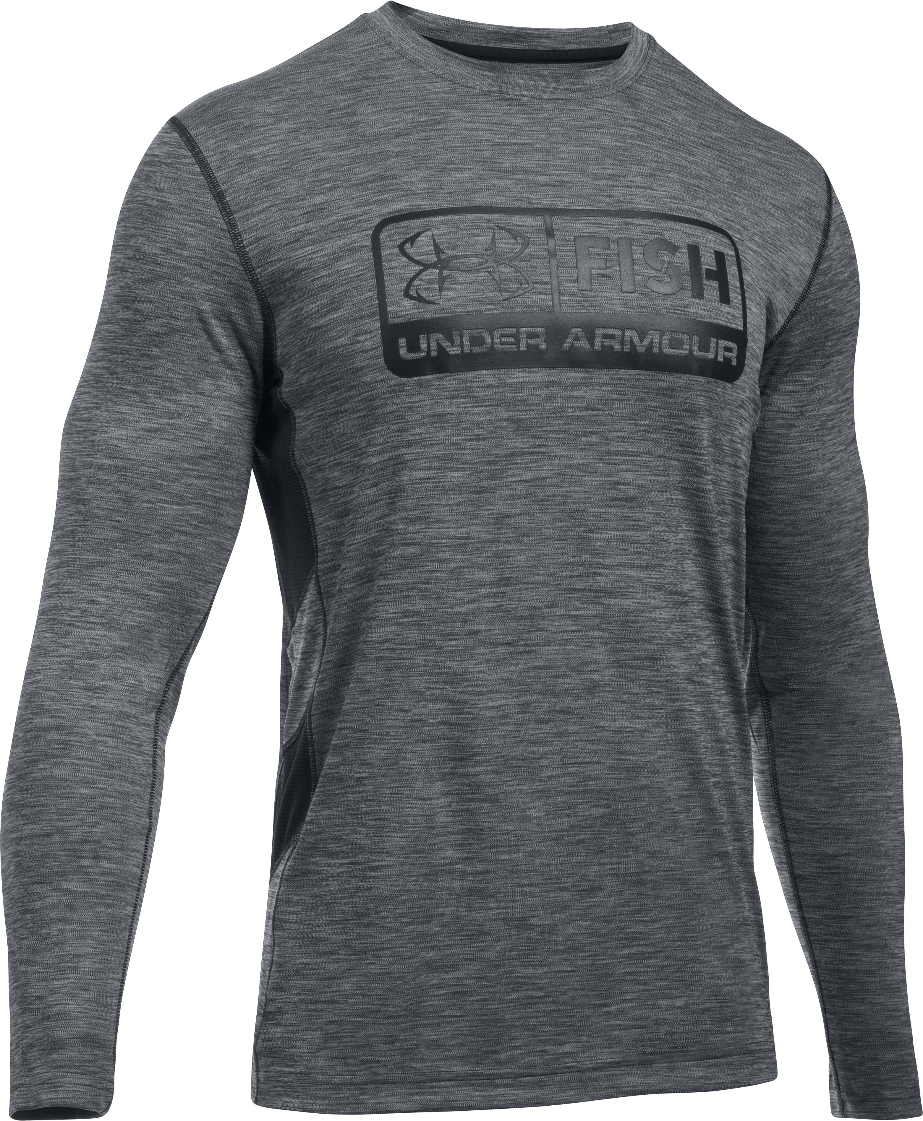 UA Fish Hunter Long Sleeve, Black ,
