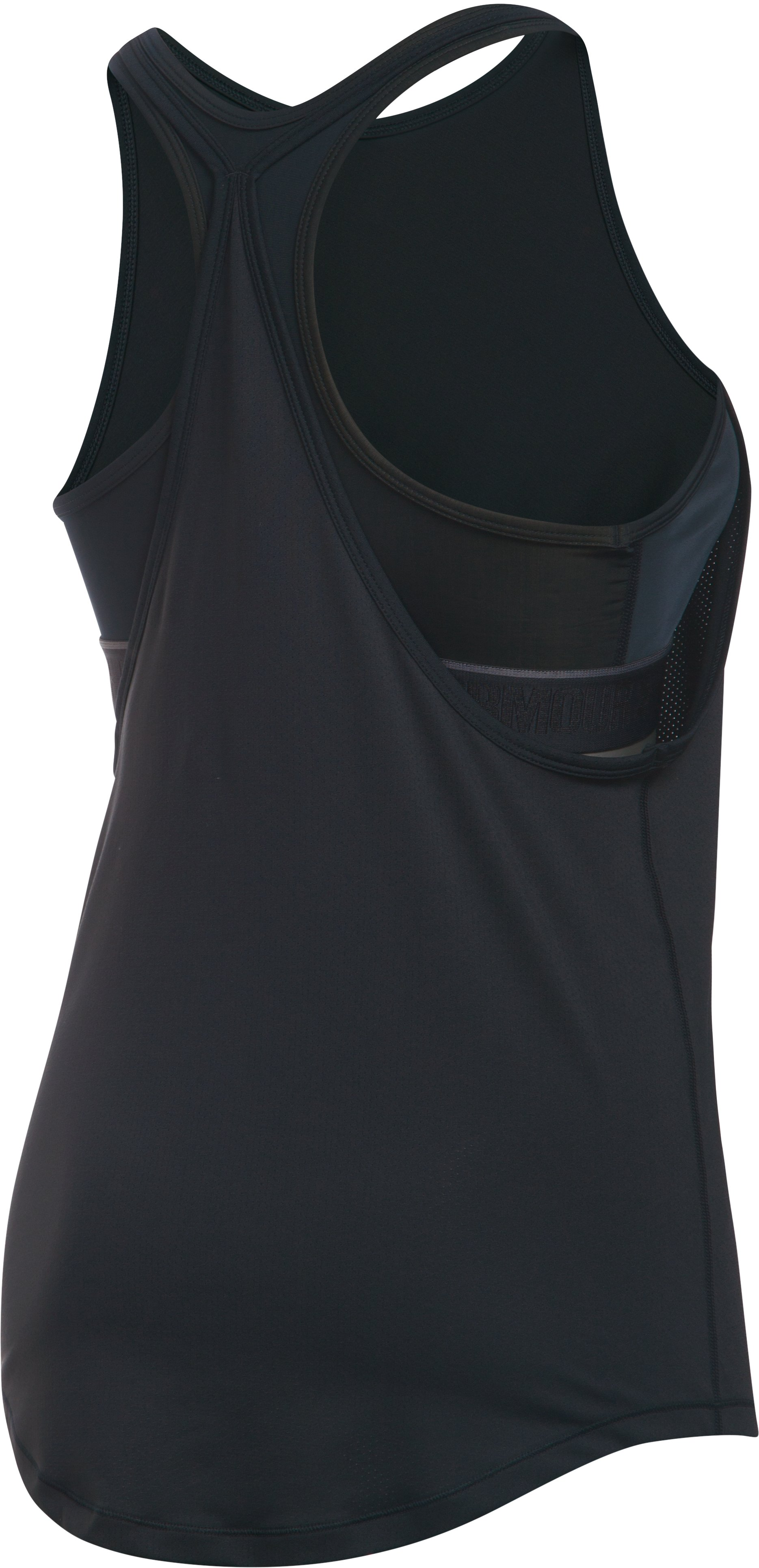 Women's UA HeatGear® Armour 2-In-1 Tank, Black , undefined