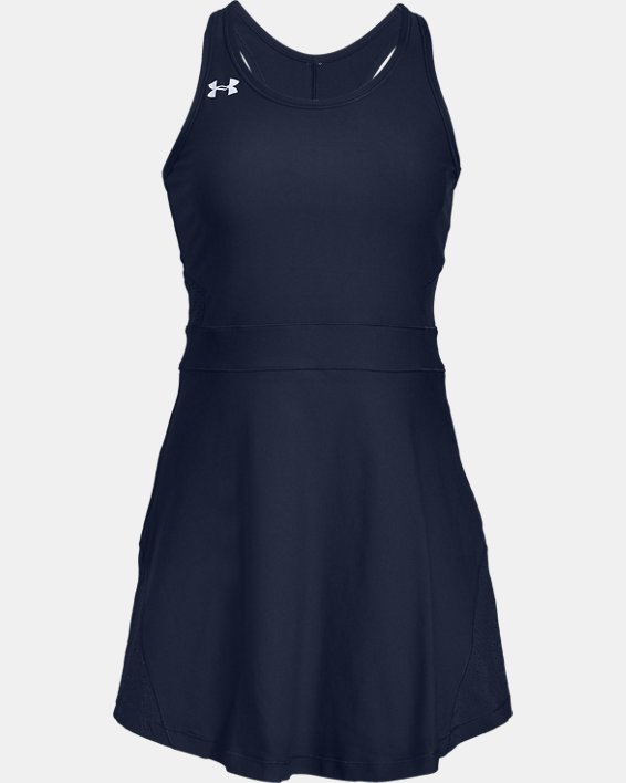 Women's UA Tennis Center Court Dress, Navy, pdpMainDesktop image number 4