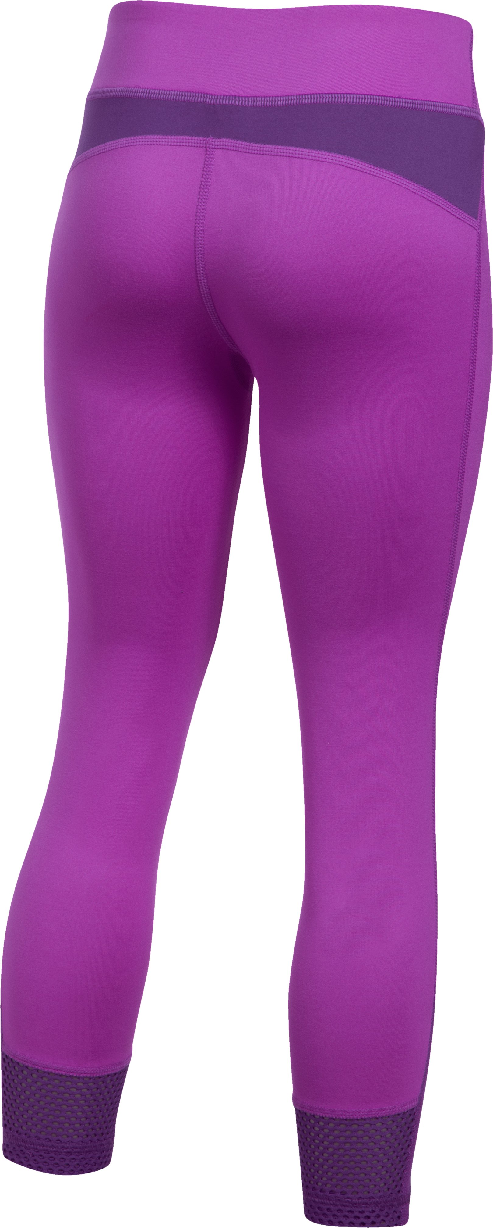 Girls' UA Finale Capris, PURPLE RAVE, undefined