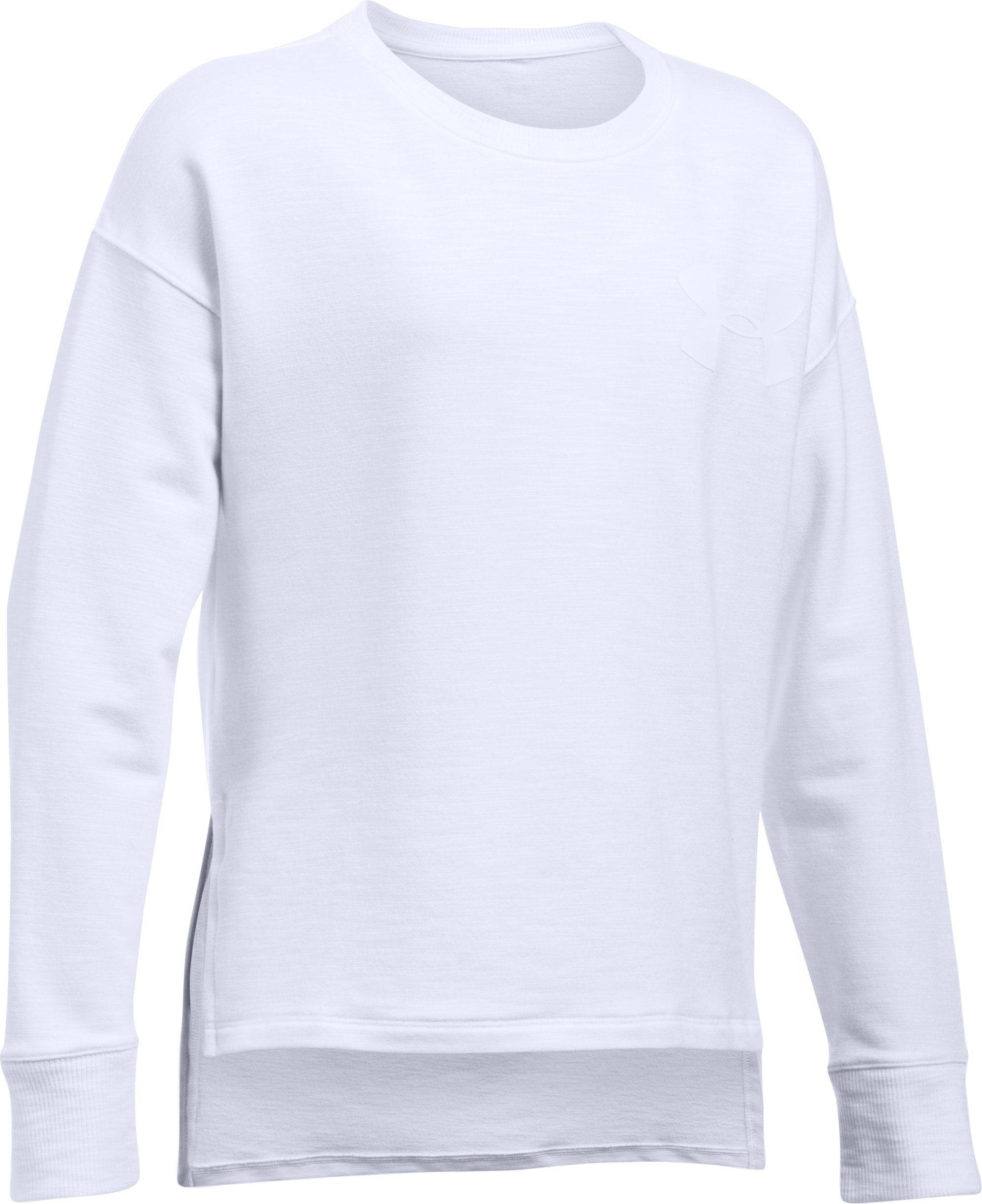 Girls' UA Stretch French Terry Pullover, White