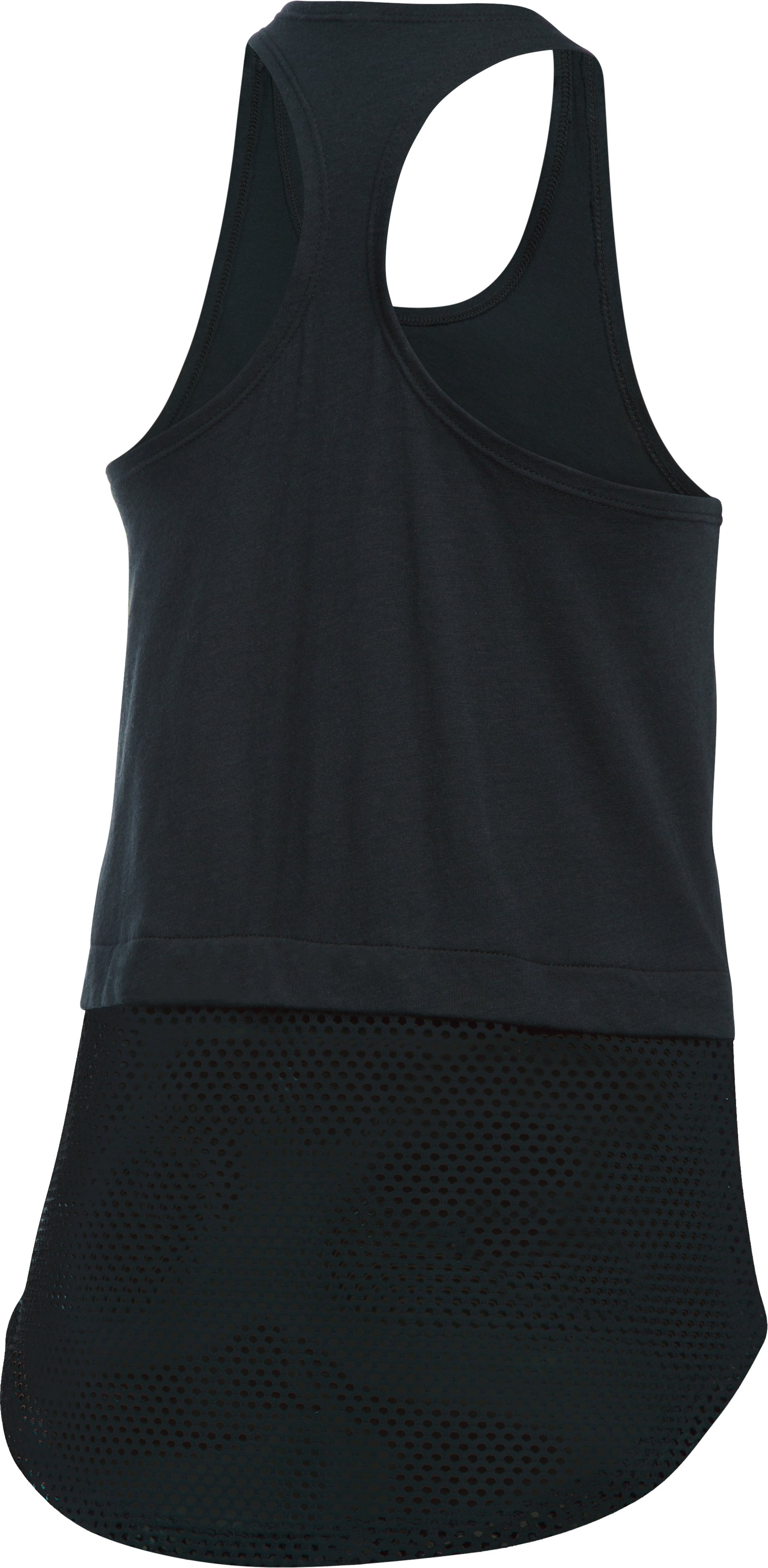 Girls' UA Studio Tank, Black ,