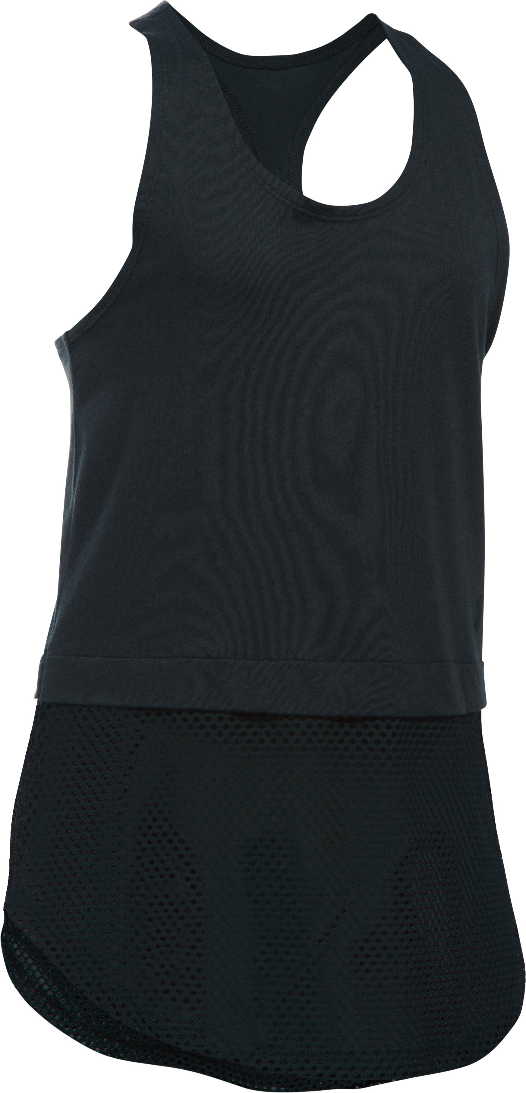 Girls' UA Studio Tank, Black
