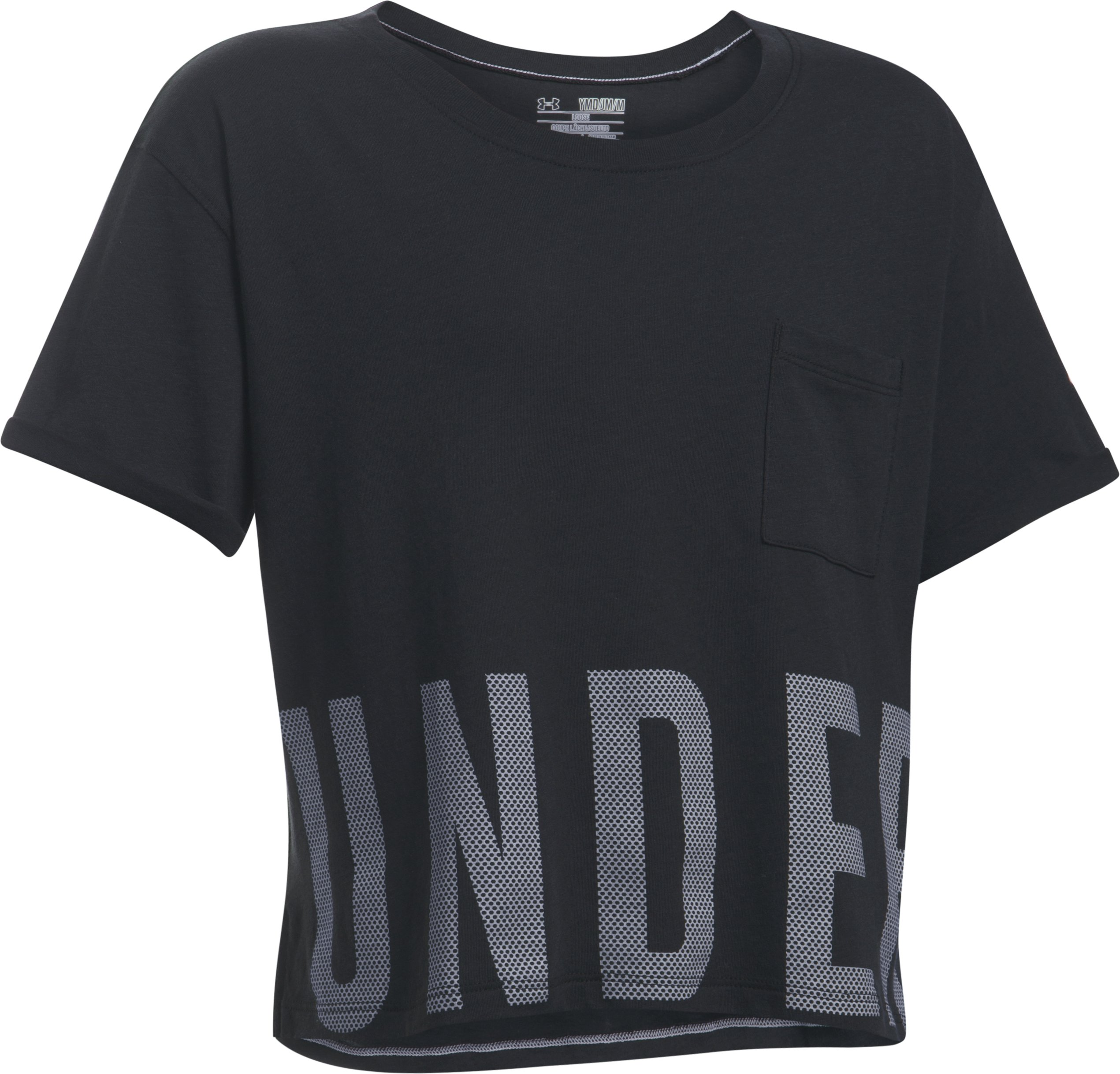 Girls' UA Studio Short Sleeve T-Shirt, Black