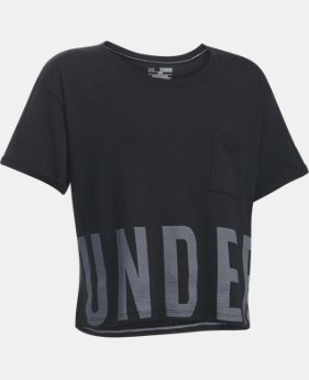 Girls' UA Studio Short Sleeve T-Shirt  2 Colors $34.99