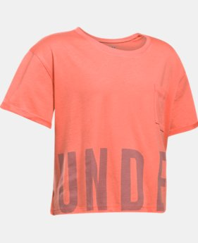 Girls' UA Studio Short Sleeve T-Shirt  1 Color $17.99 to $22.49