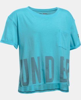 Girls' UA Studio Short Sleeve T-Shirt  4 Colors $17.99 to $20.99