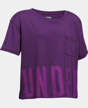 Girls' UA Studio Short Sleeve T-Shirt LIMITED TIME: FREE U.S. SHIPPING 1  Color Available $15