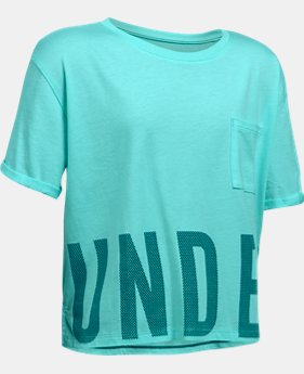 Girls' UA Studio Short Sleeve T-Shirt  3 Colors $29.99