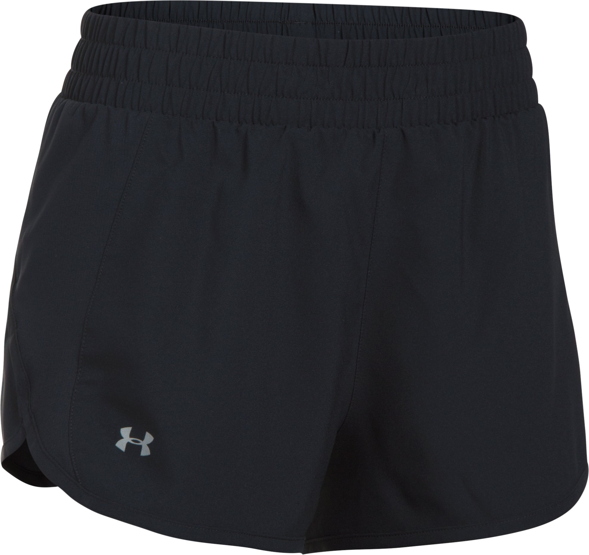 Women's UA Launch Tulip Shorts, Black ,