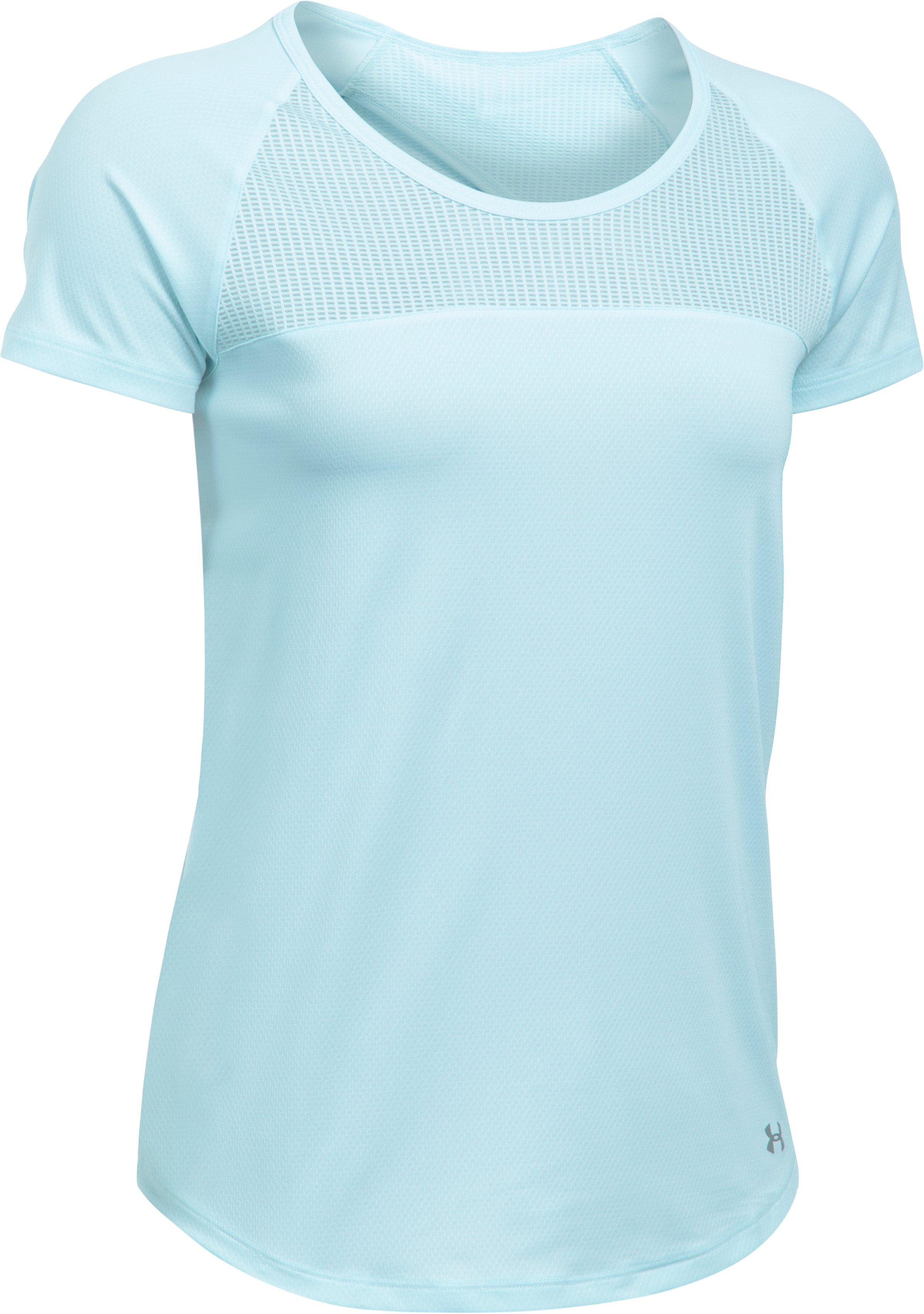 Women's UA Fly-By Short Sleeve, SKYLIGHT, undefined