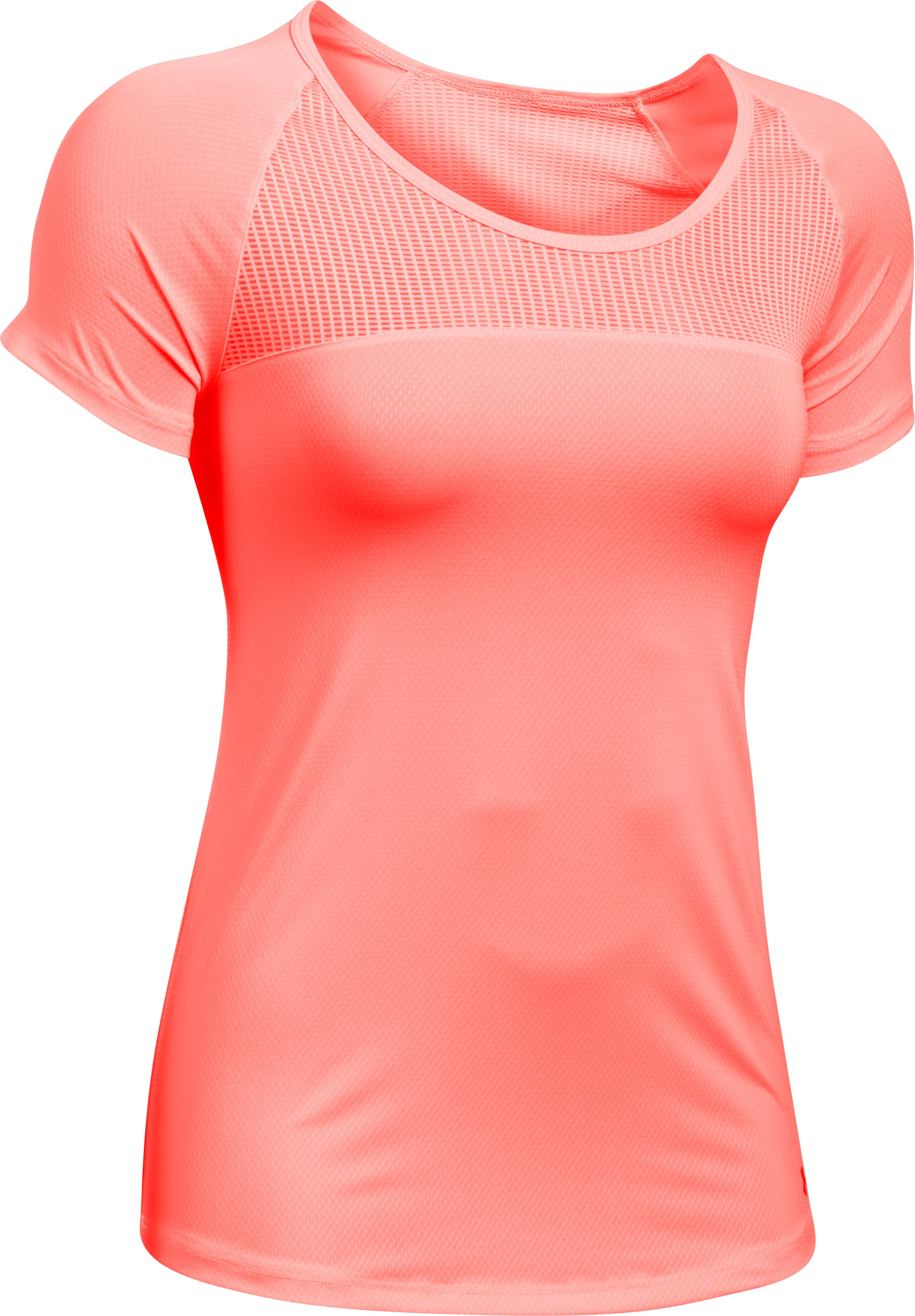 Women's UA Fly-By Short Sleeve, CAPE CORAL, undefined