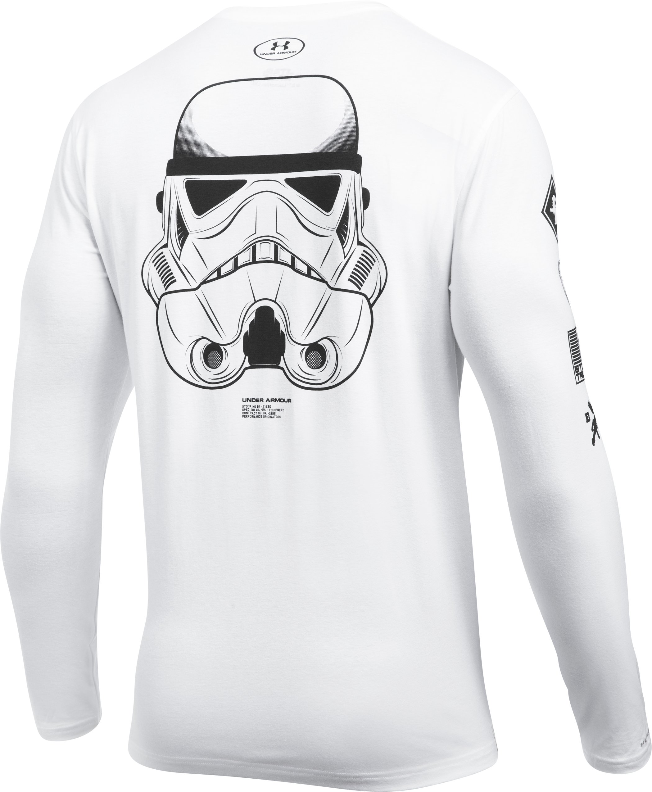 Men's UA Star Wars Trooper Long Sleeve T-Shirt, White,