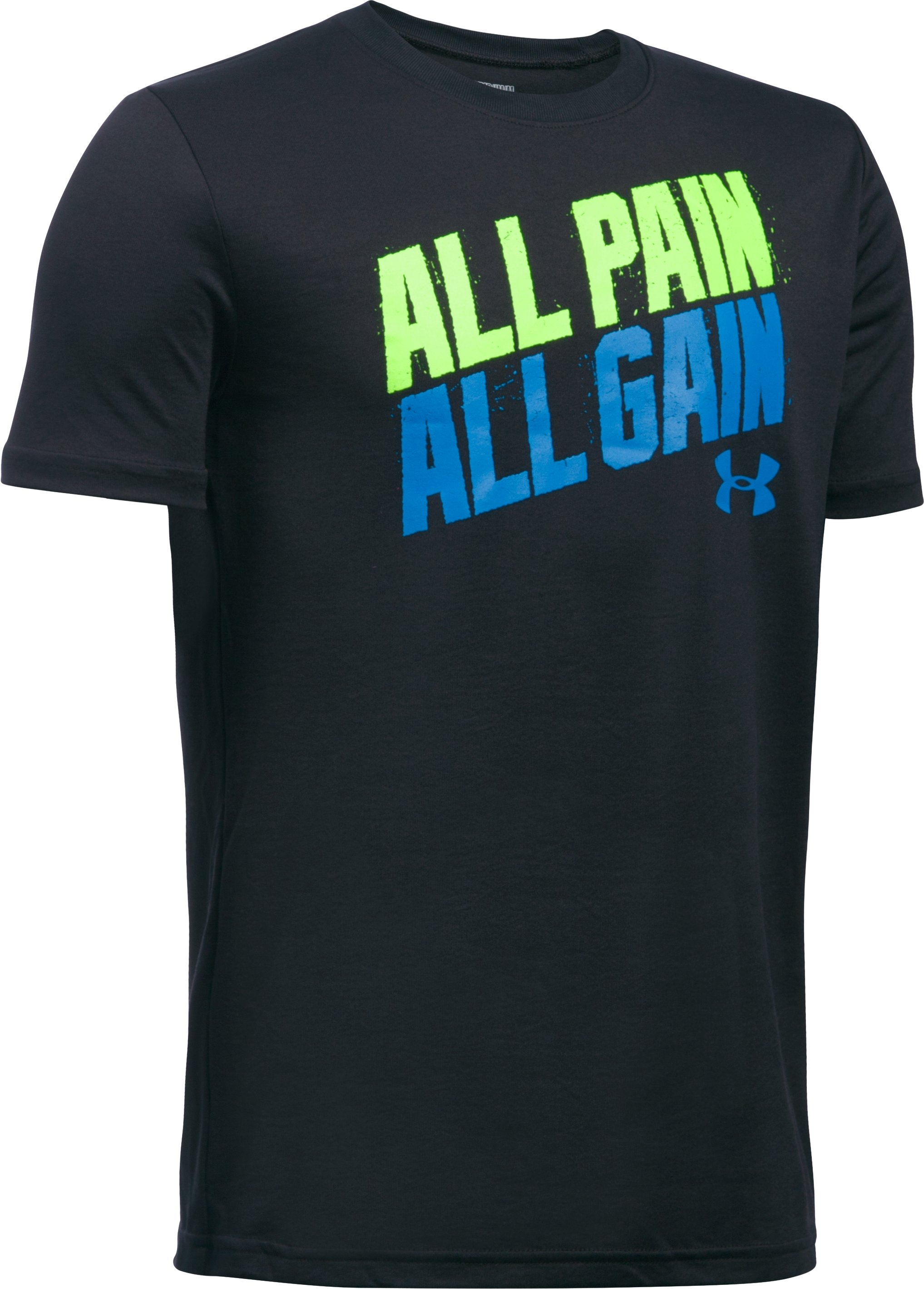 Boys' UA All Pain All Gain T-Shirt, Black , zoomed image