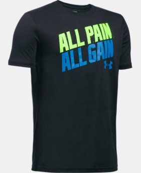 New Arrival Boys' UA All Pain No Gain T-Shirt LIMITED TIME: FREE SHIPPING 1 Color $19.99