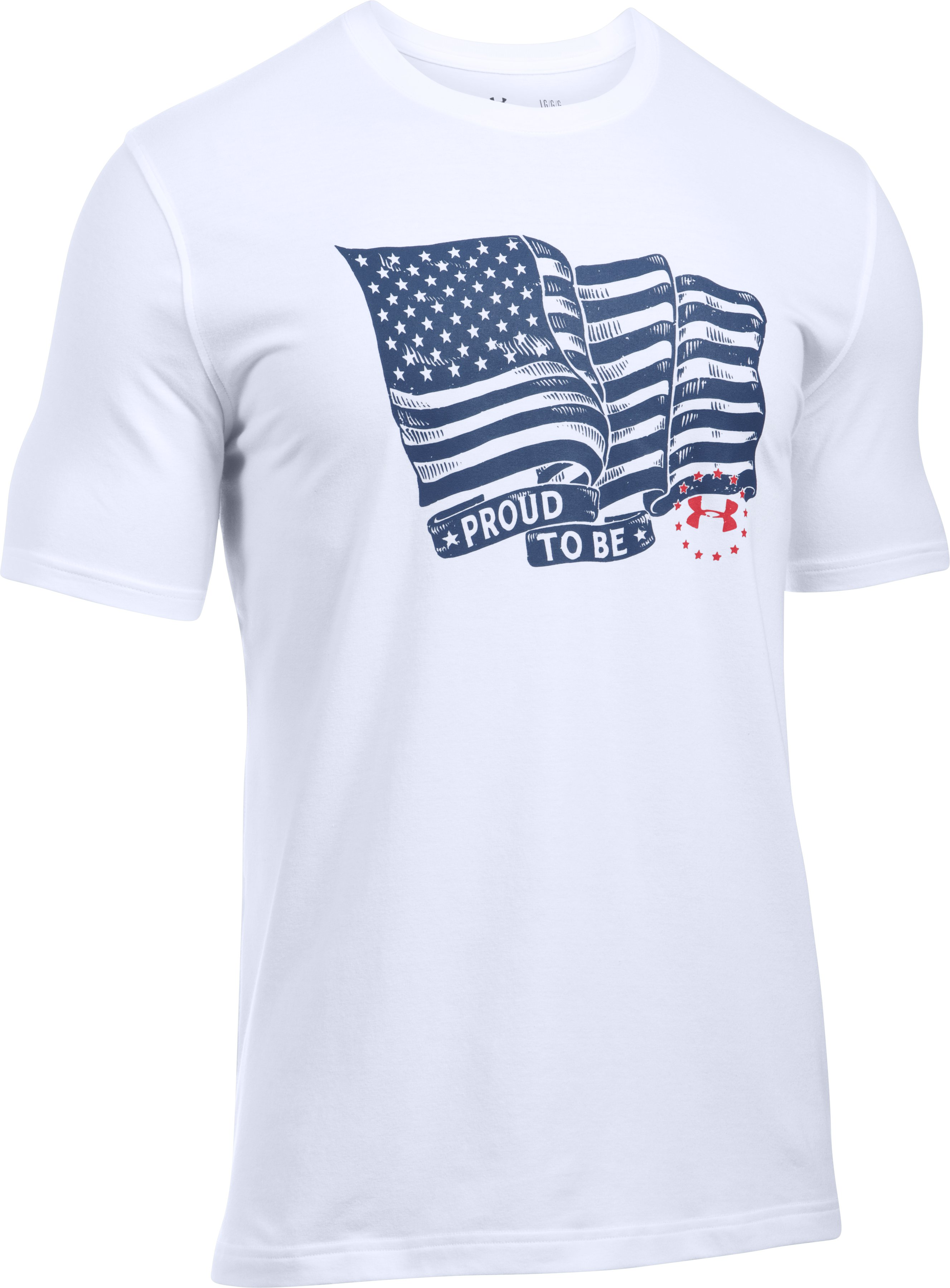 Men's UA Freedom Proud American T-Shirt, White, undefined