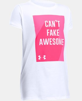 New Arrival Girls' UA Can't Fake Awesome Short Sleeve T-Shirt   $19.99