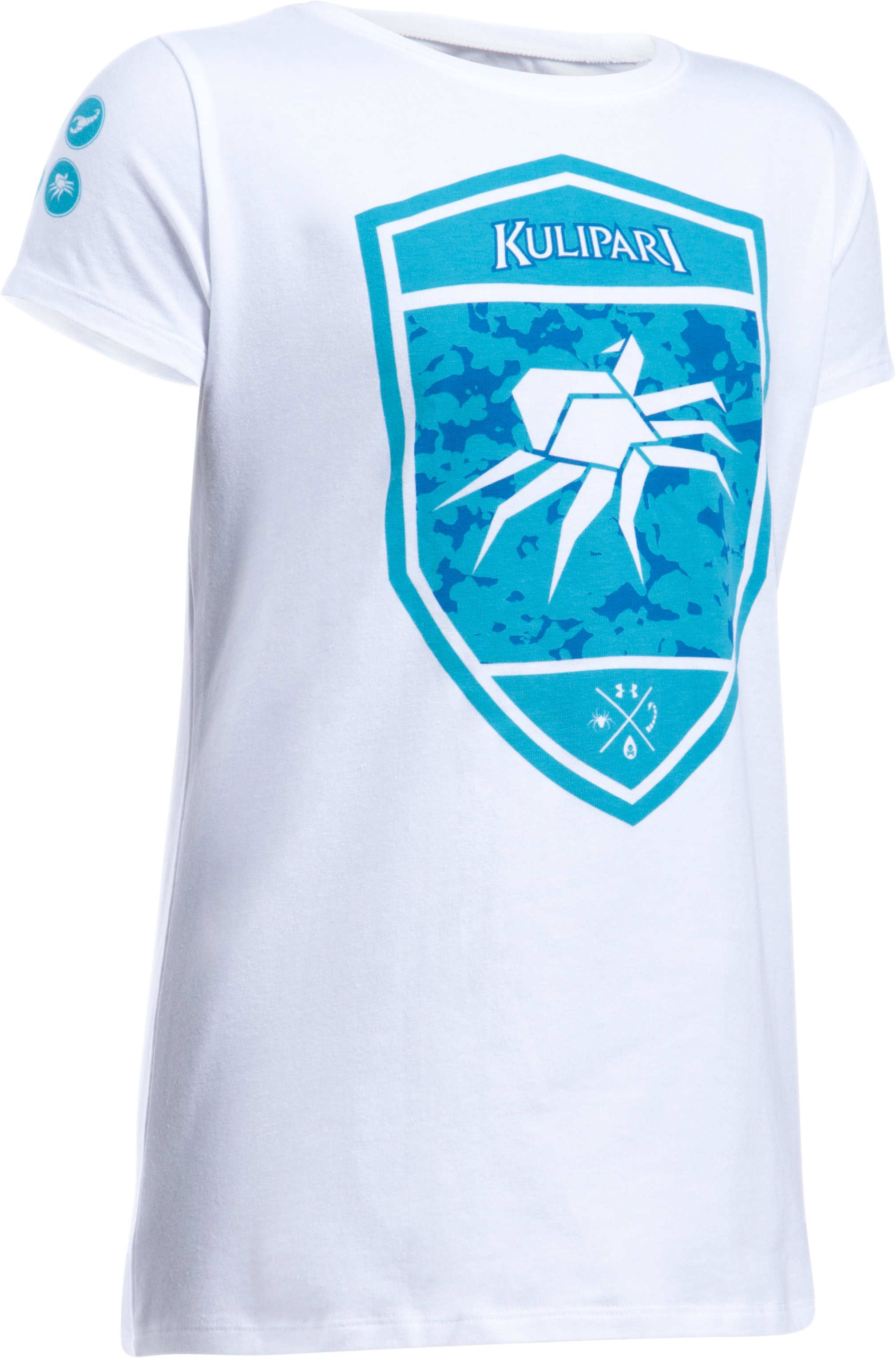 Girls' UA Kulipari Spider Short Sleeve T-Shirt, White, zoomed image