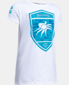 New Arrival Girls' UA Kulipari Spider Short Sleeve T-Shirt   $19.99