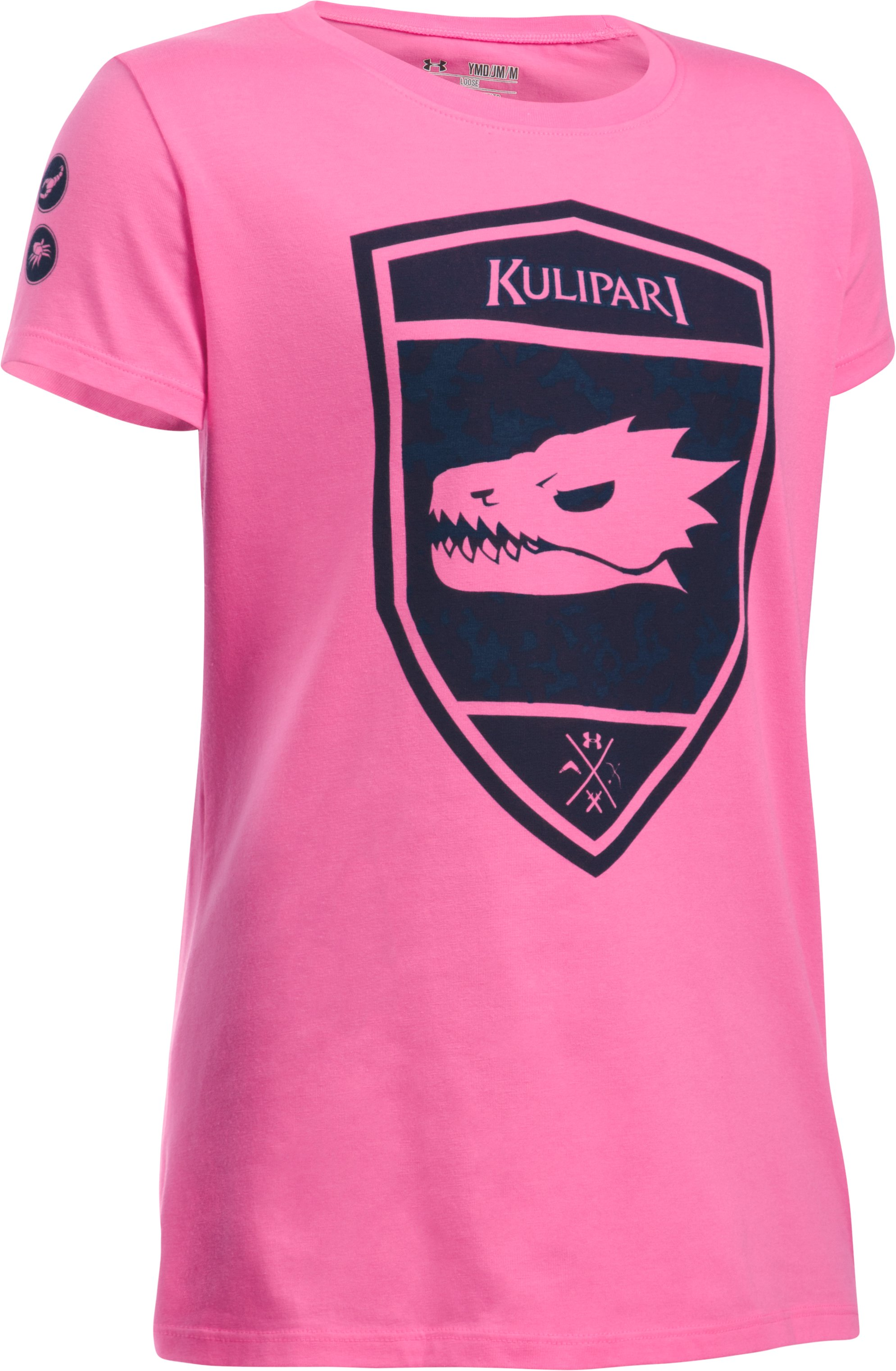 Girls' UA Kulipari Dragon Short Sleeve T-Shirt, PINK PUNK