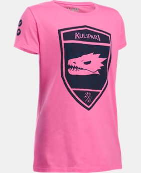 New Arrival Girls' UA Kulipari Lizard Short Sleeve T-Shirt LIMITED TIME: FREE SHIPPING  $19.99