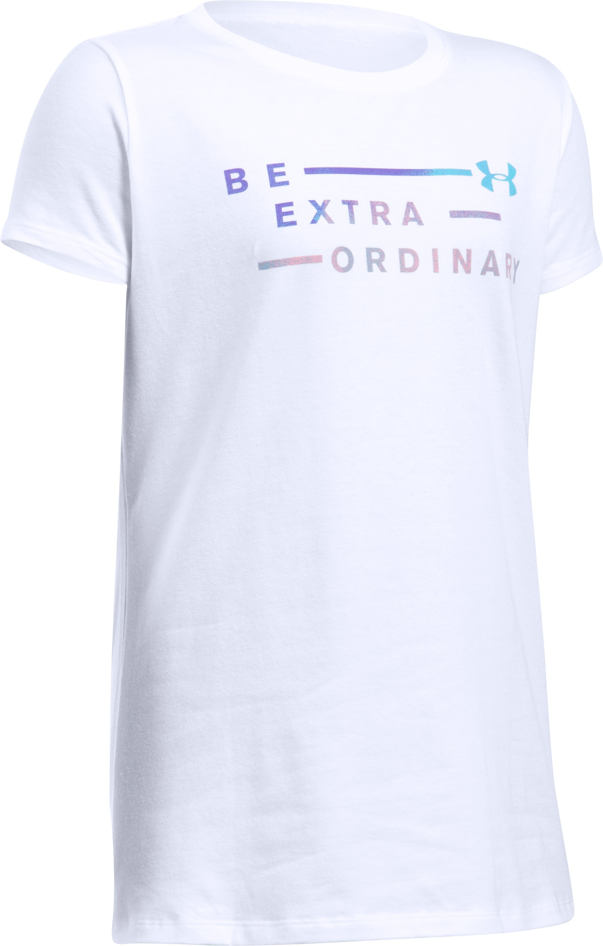 Girls' UA Be Extraordinary Short Sleeve T-Shirt, White, undefined